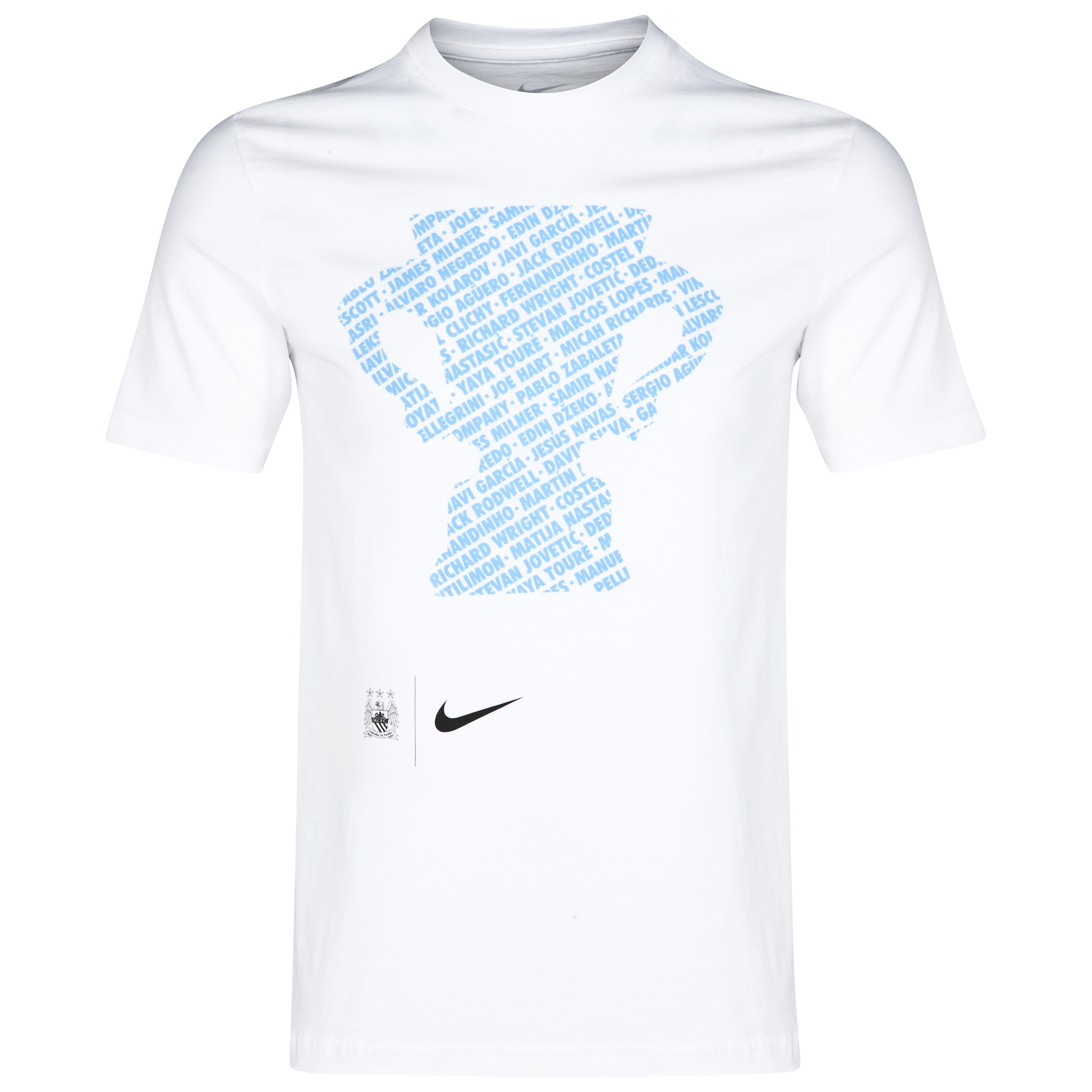 Manchester City Capital One Cup Winners T-Shirt White