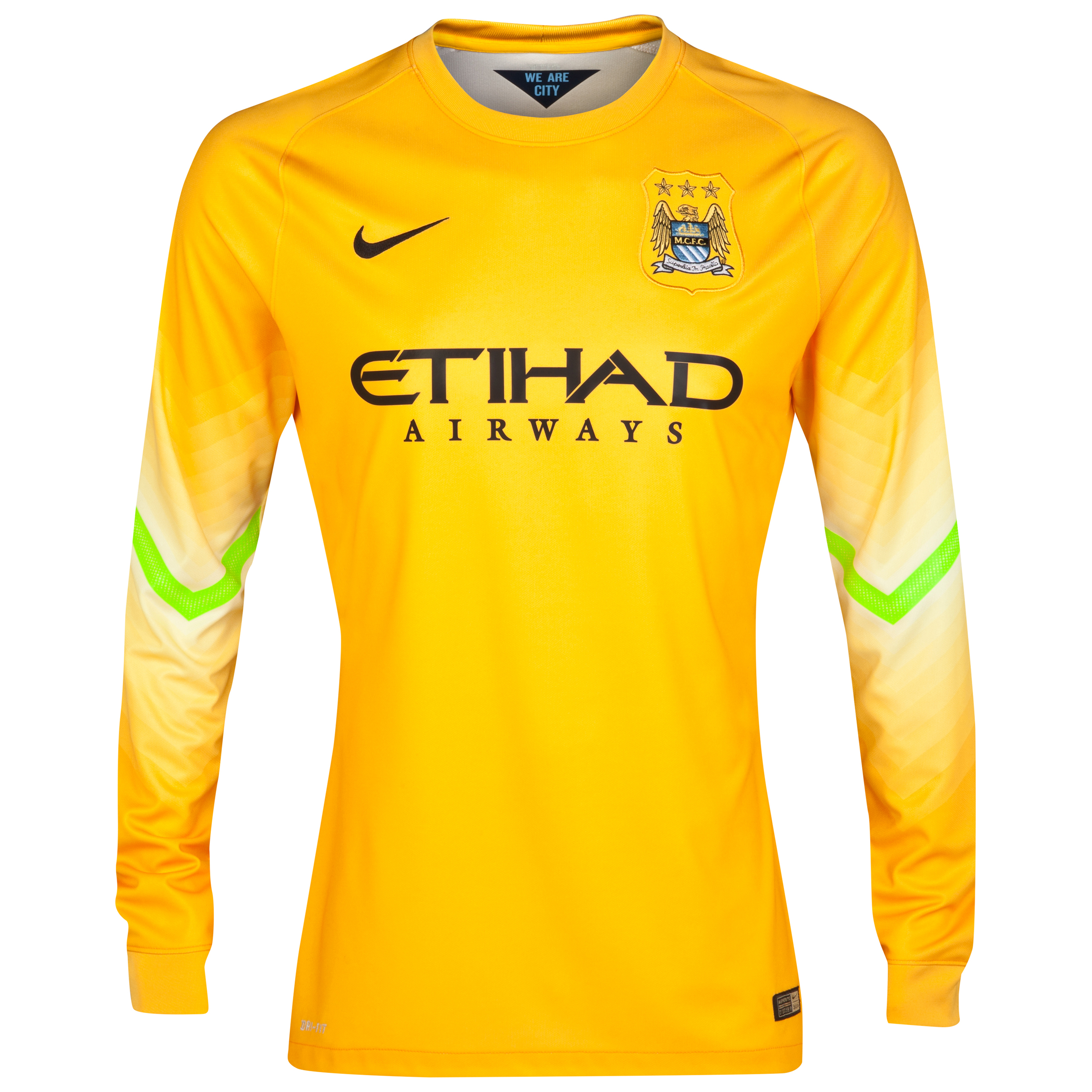 Manchester City Change Goalkeeper Shirt 2014/15 - Kids Gold