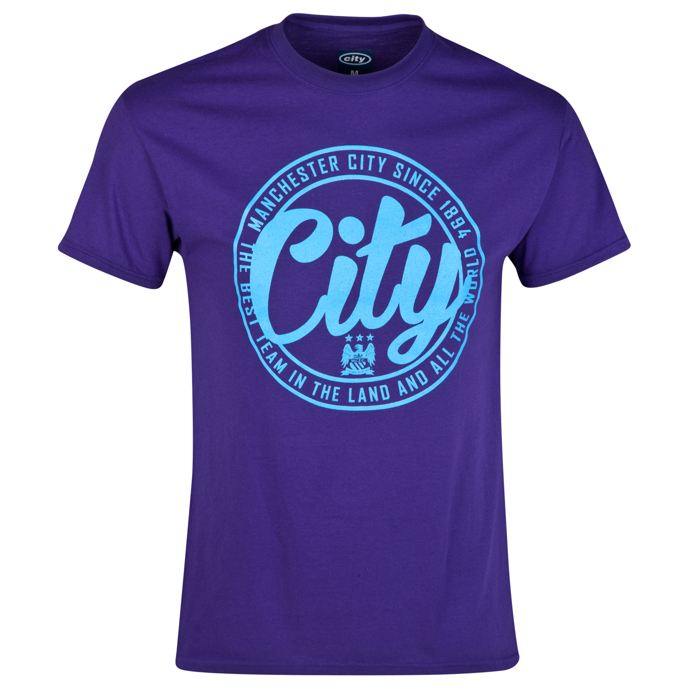 Manchester City 2 for 20 Circle T-Shirt Purple