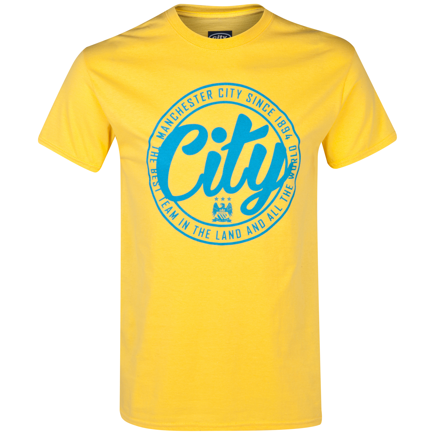 Manchester City 2 for 20 Circle T-Shirt Yellow
