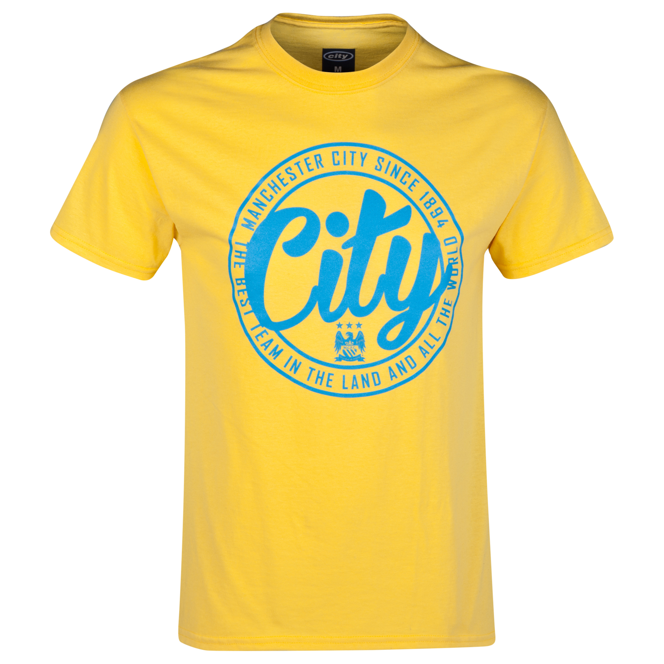Manchester City 2 for 15 Circle T-Shirt - Junior Yellow