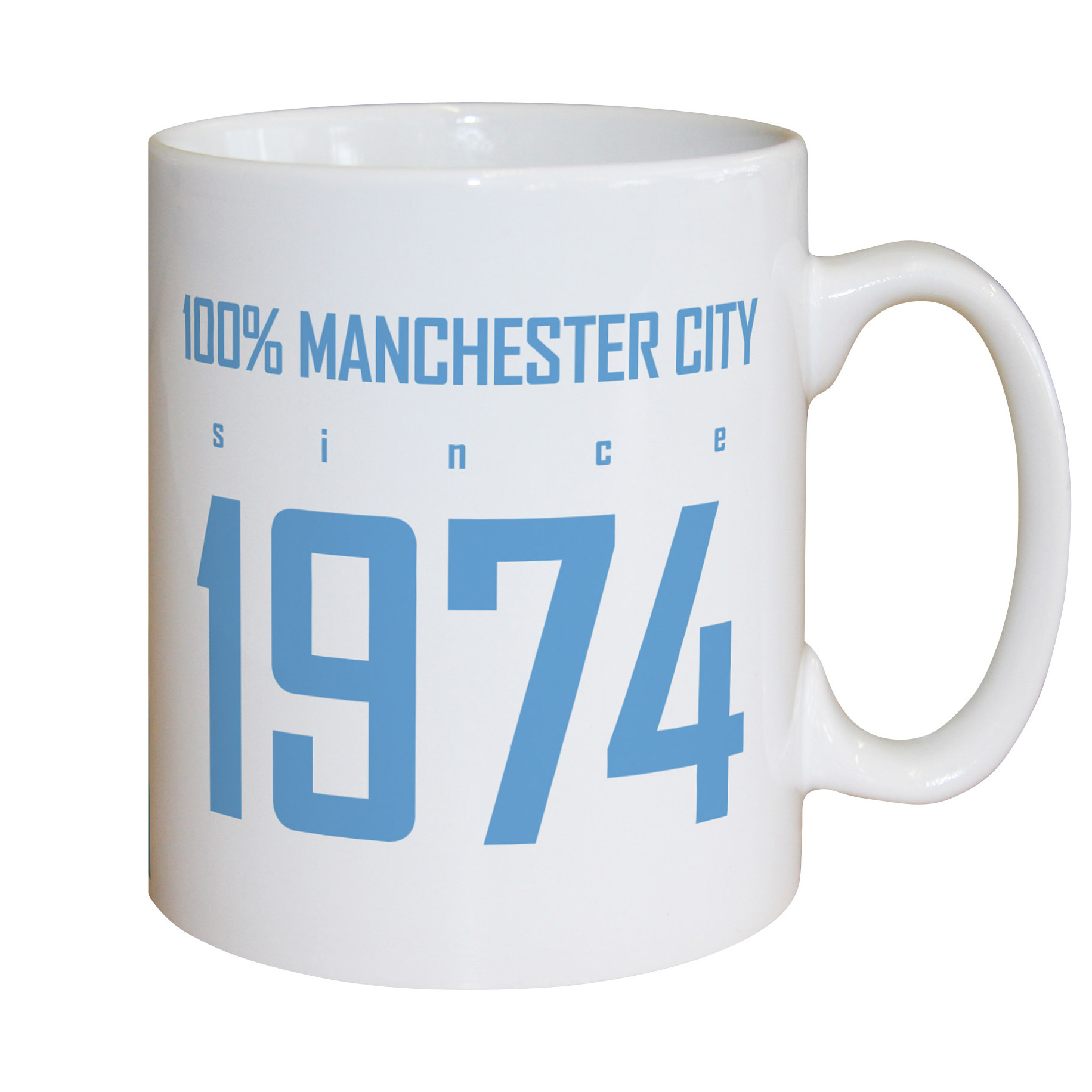 Manchester City Personalised 100 Percent City Mug