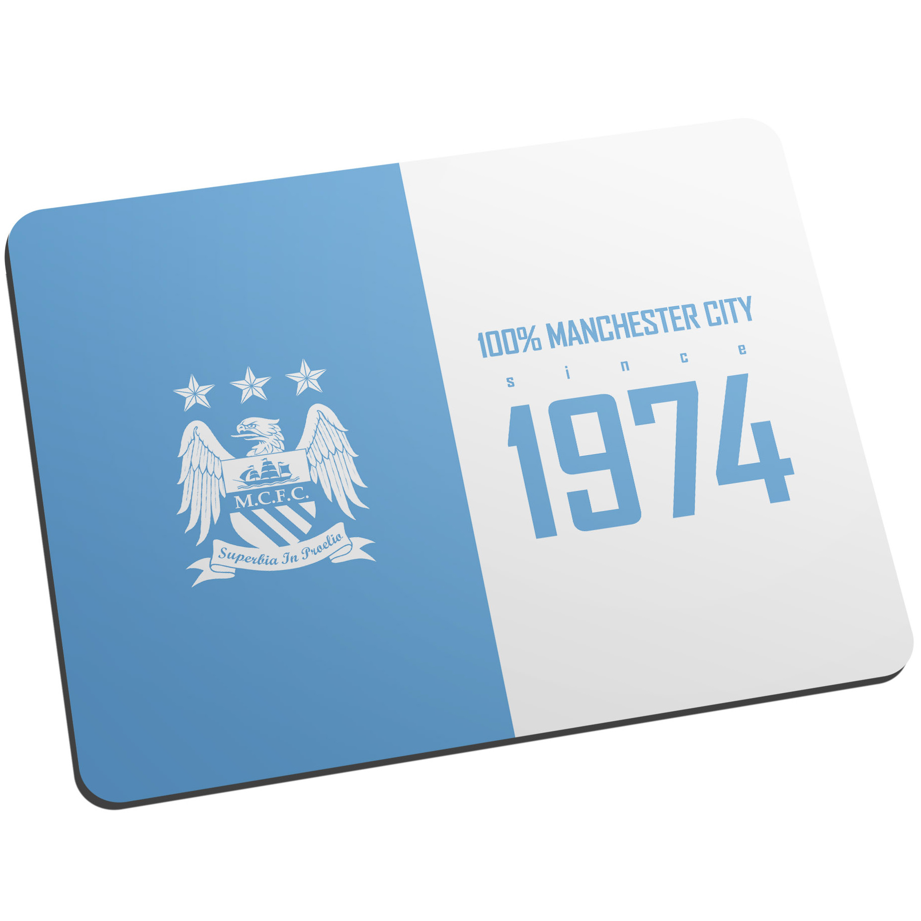 Manchester City Personalised 100 Percent Manchester City Mouse Mat