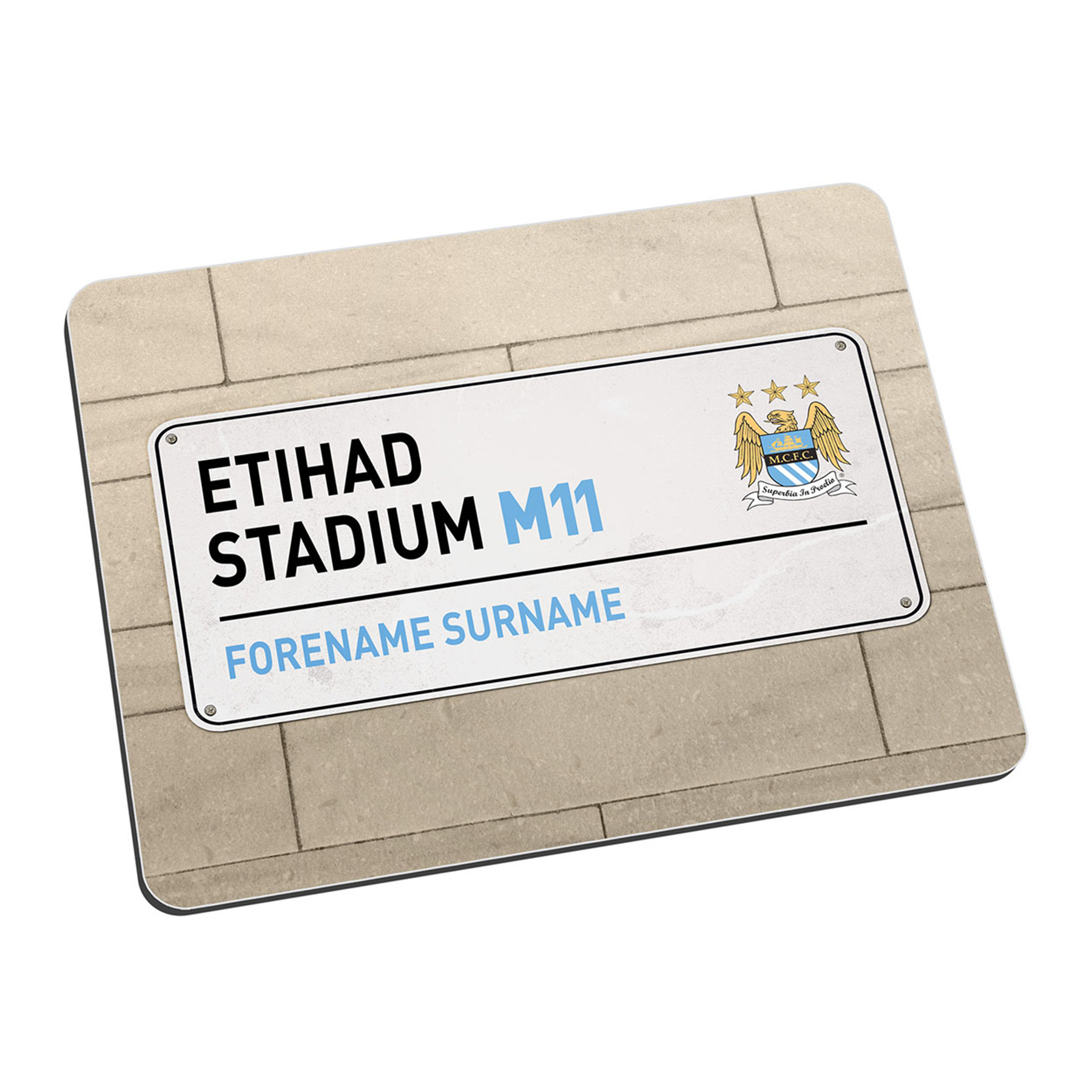 Manchester City Personalised Street Sign Mouse Mat