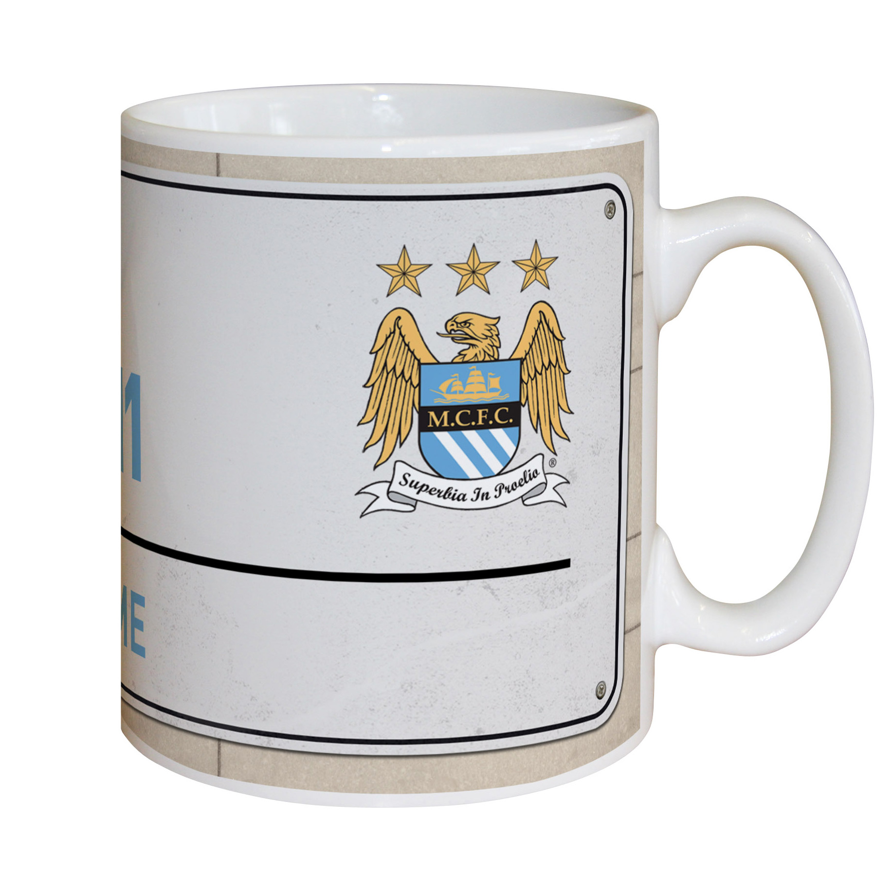 Manchester City Personalised Street Sign Mug