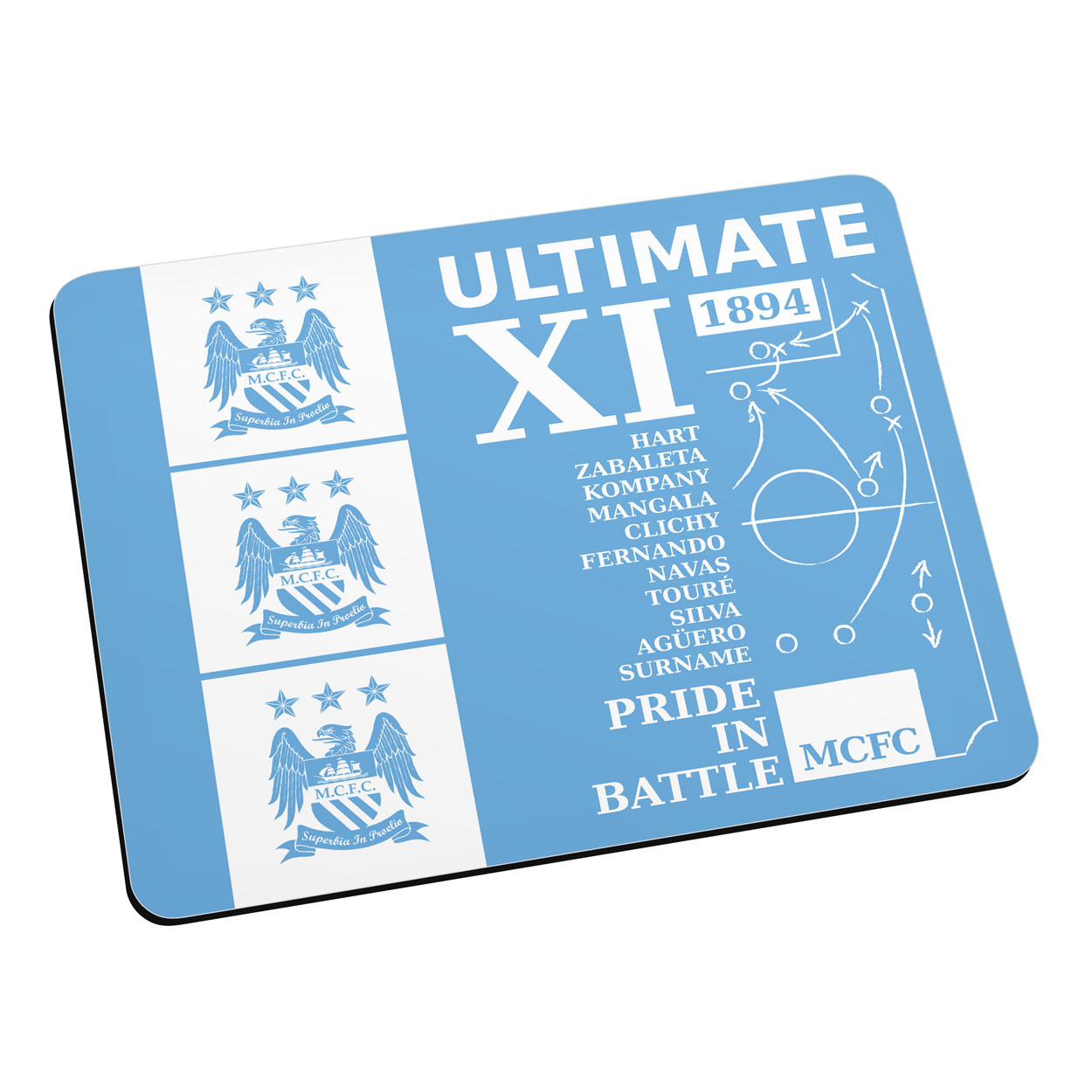 Manchester City Personalised Ultimate XI Mouse Mat
