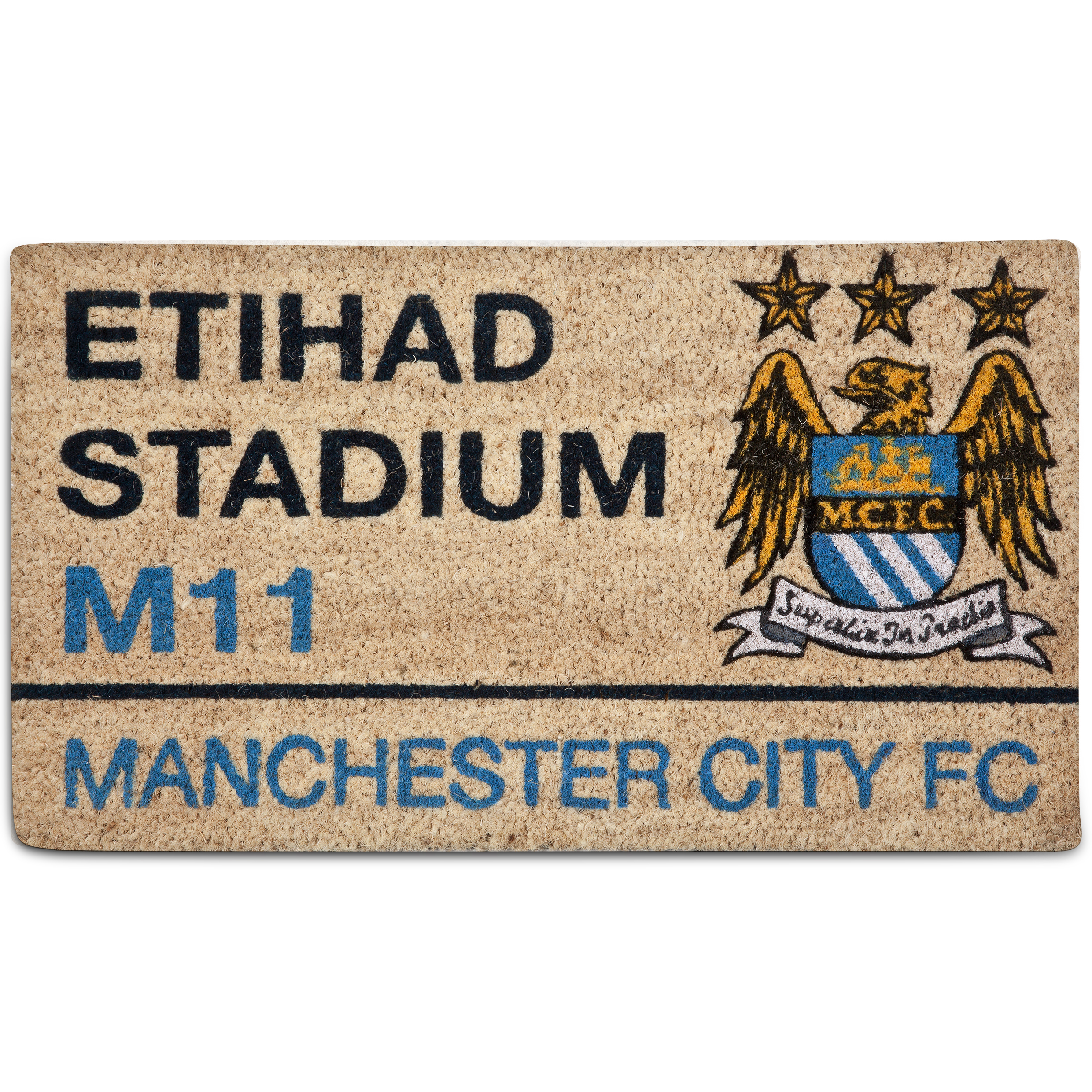 Manchester City Street Sign Doormat