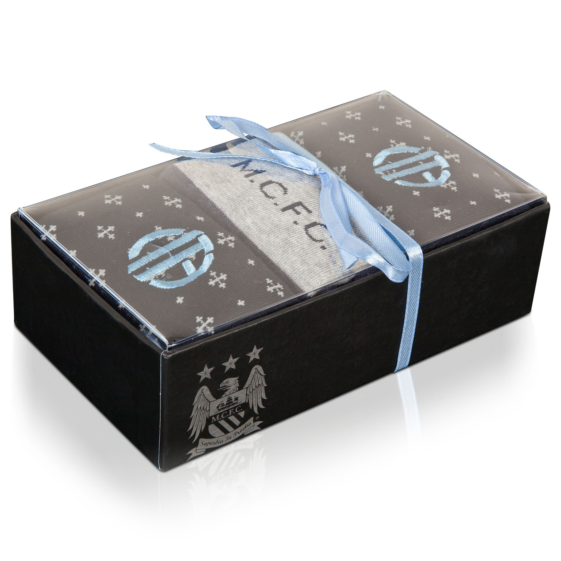 Manchester City Sock Boxset - Navy/Grey - Mens