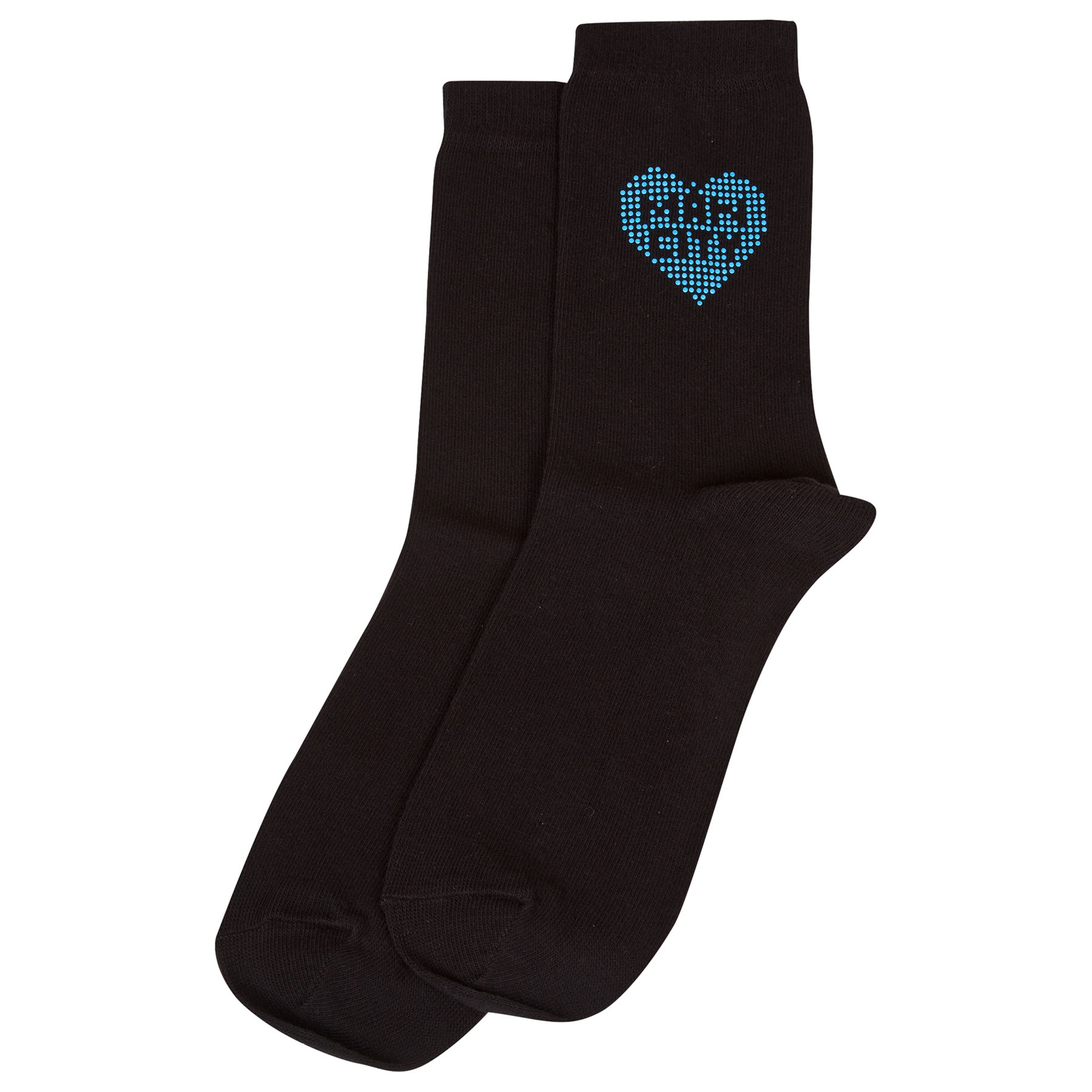 Manchester City Diamonte Socks - Black - Womens
