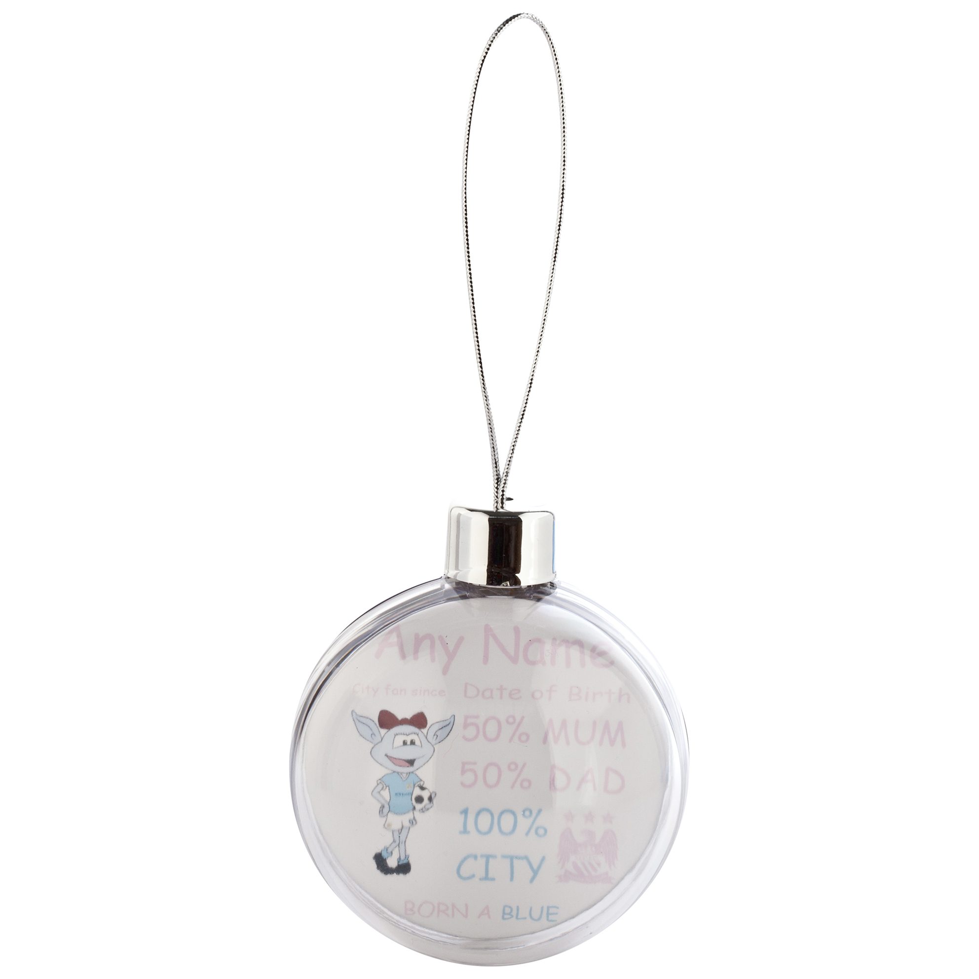 Manchester City Personalised Moonbeam City Fan Since Bauble