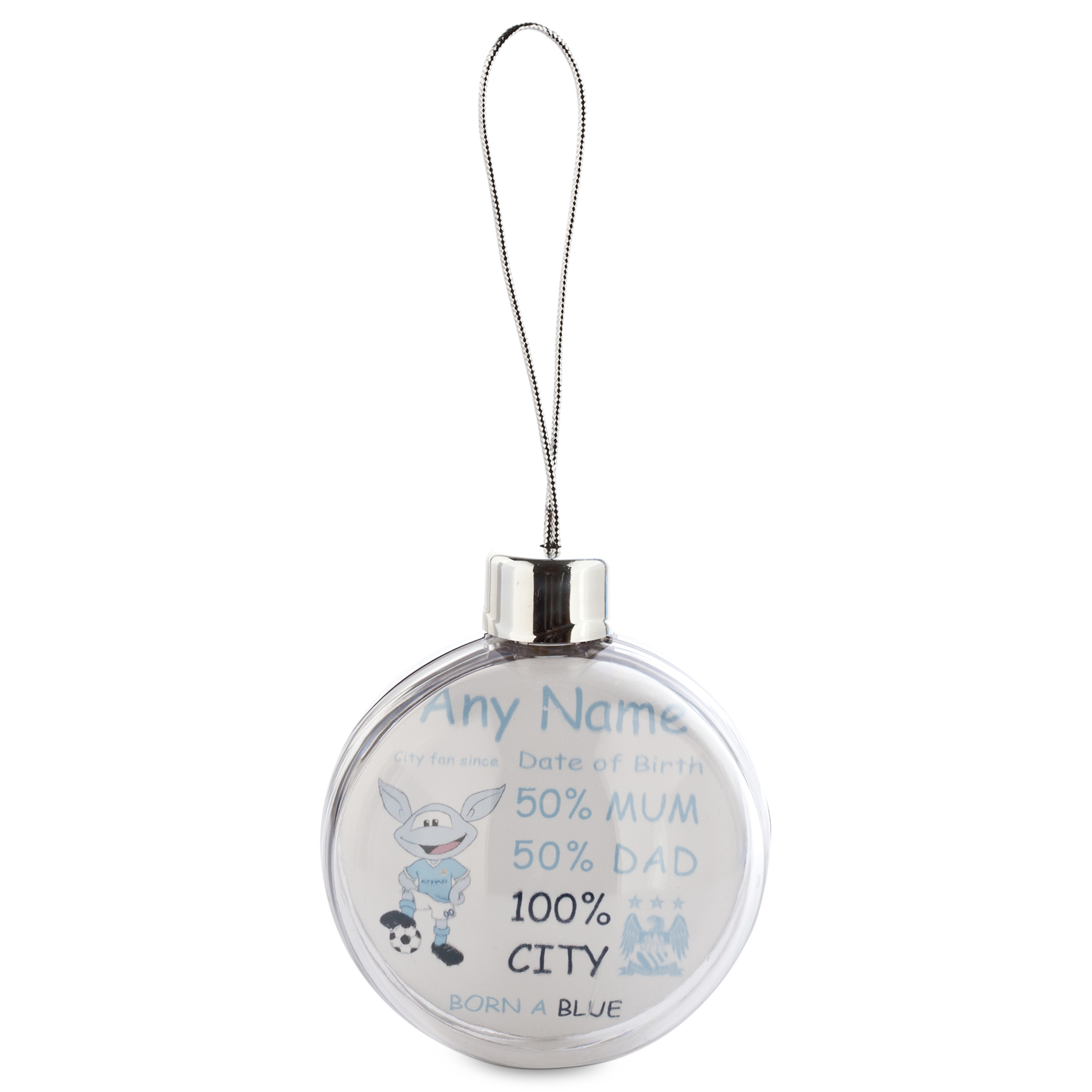Manchester City Personalised Moonchester City Fan Since Bauble