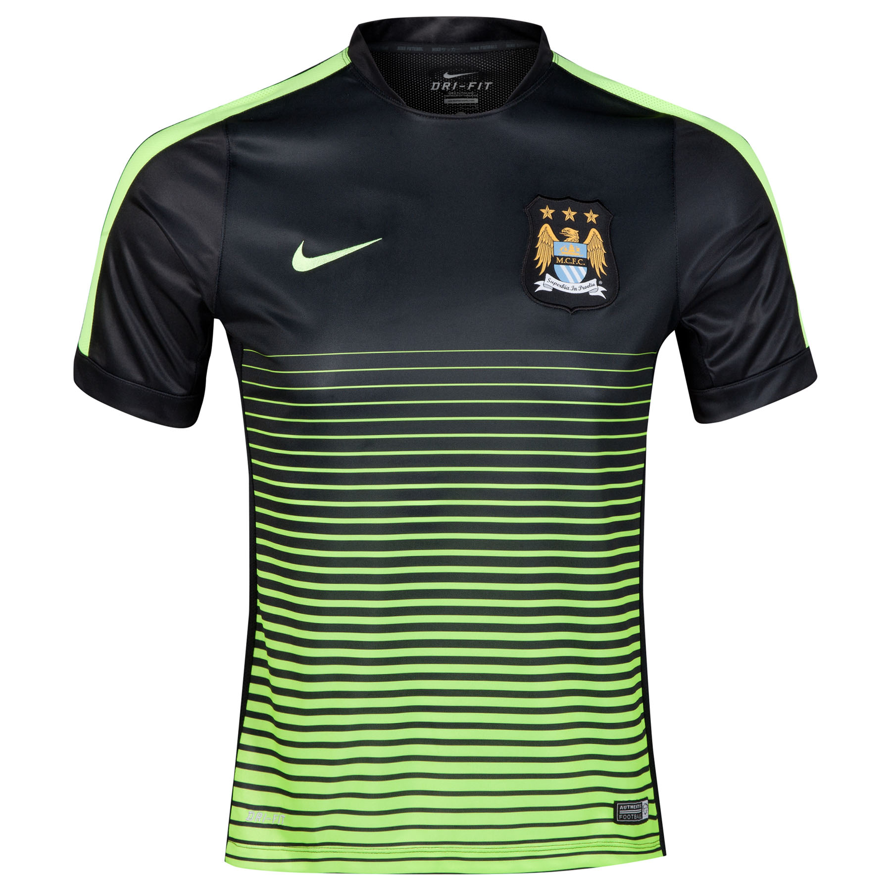 Manchester City Squad Short Sleeve Pre Match Top Black