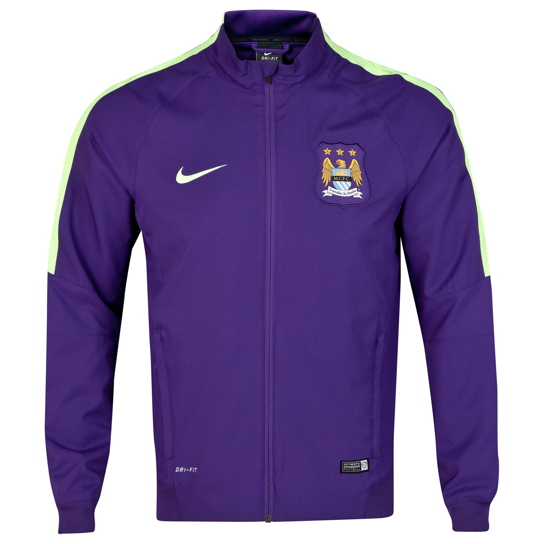 Manchester City Squad Sideline Woven Jacket Purple