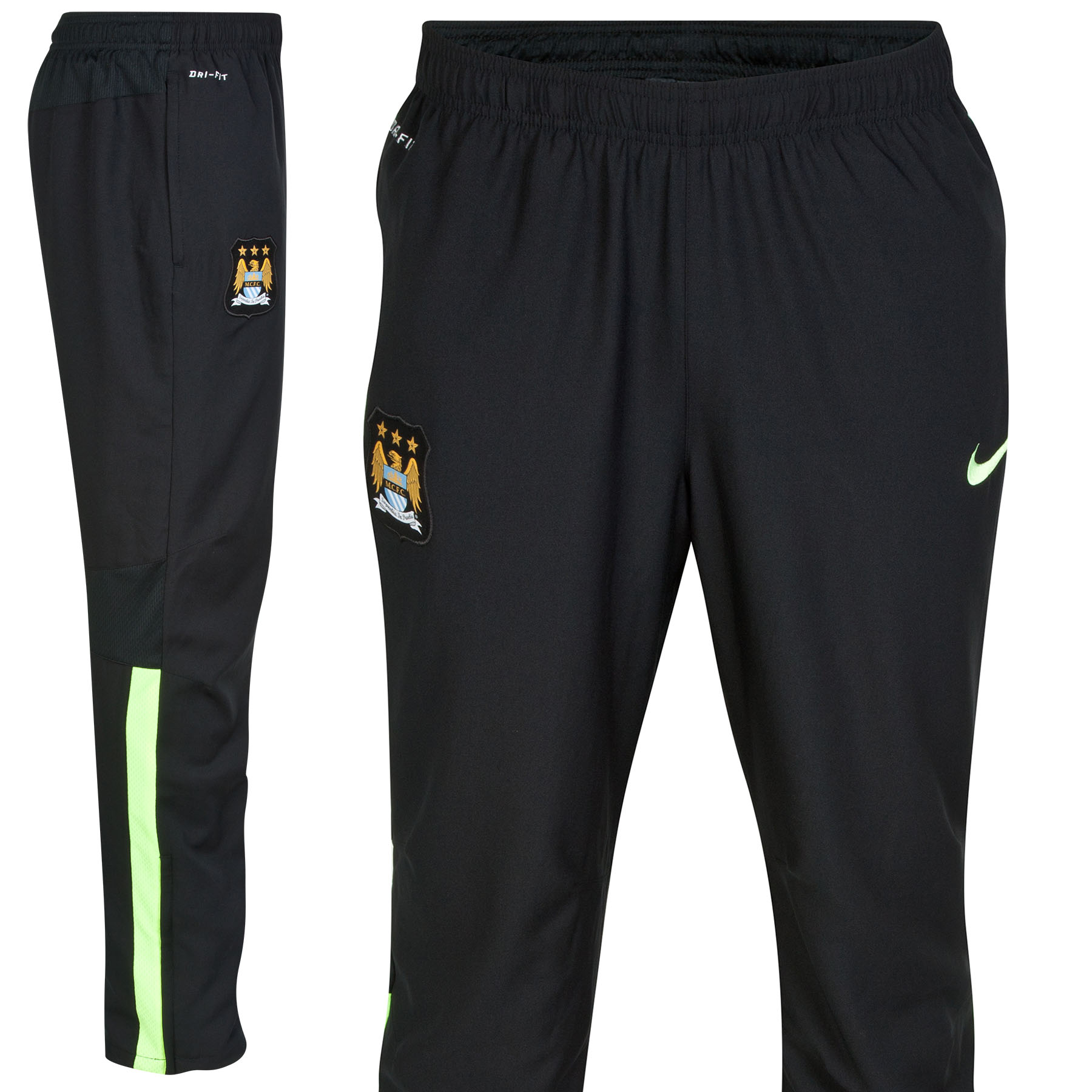 Manchester City Squad Sideline Woven Pants Black