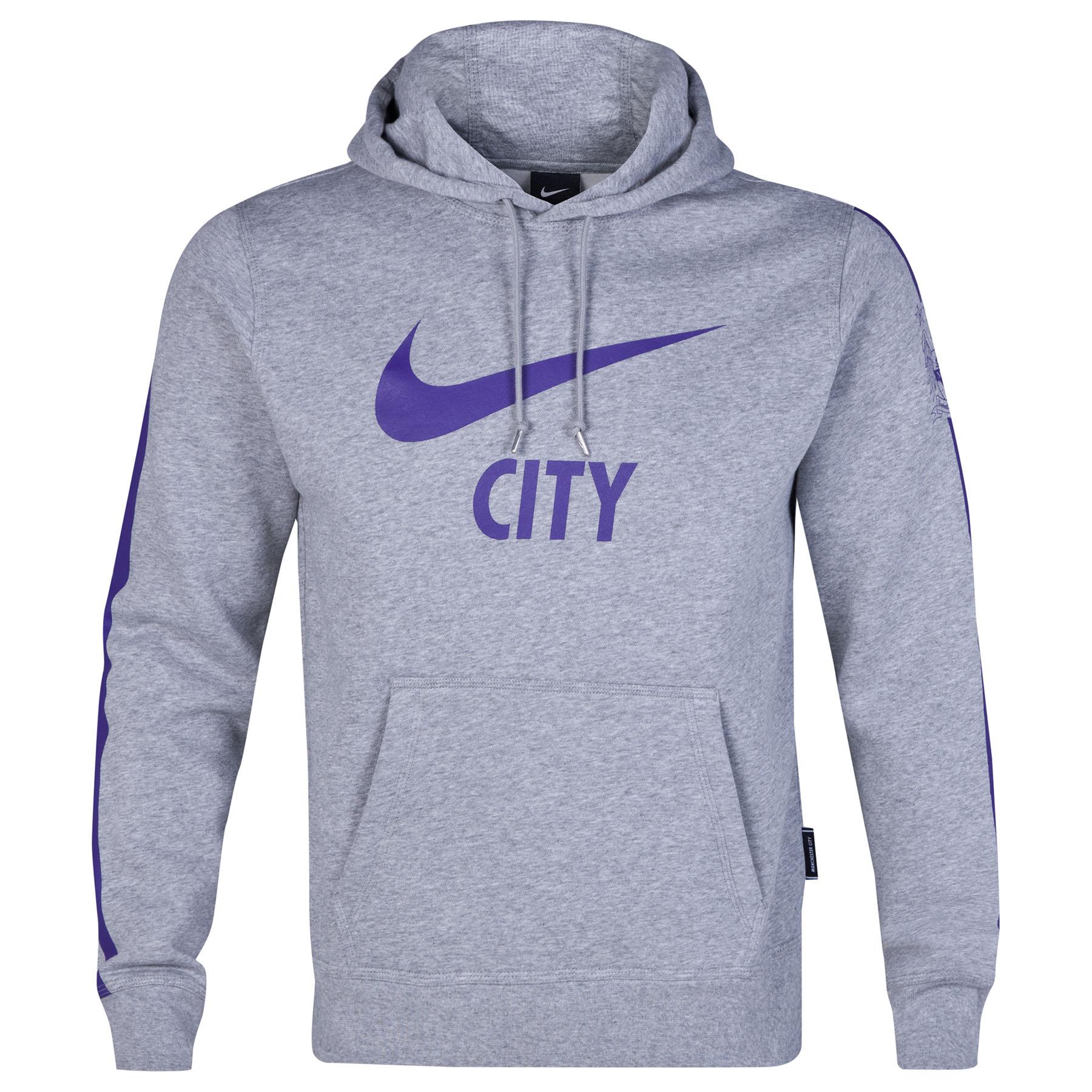 Manchester City Core Hoody Dk Grey