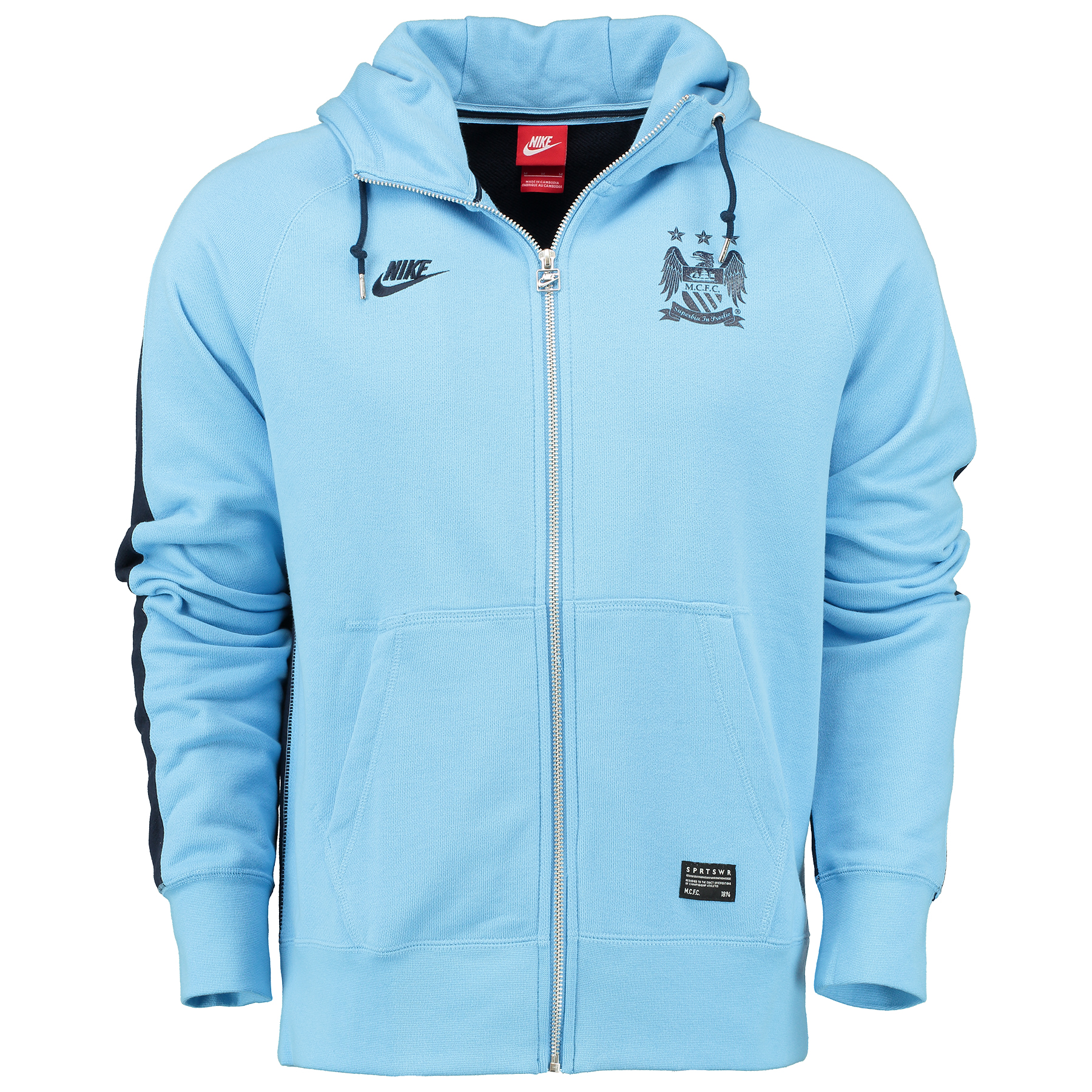 Manchester City Covert AW77 FZ Hoody Blue