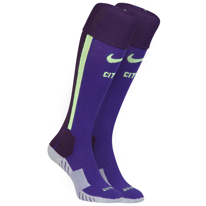 Manchester City Cup Away Socks 2014/15 Purple