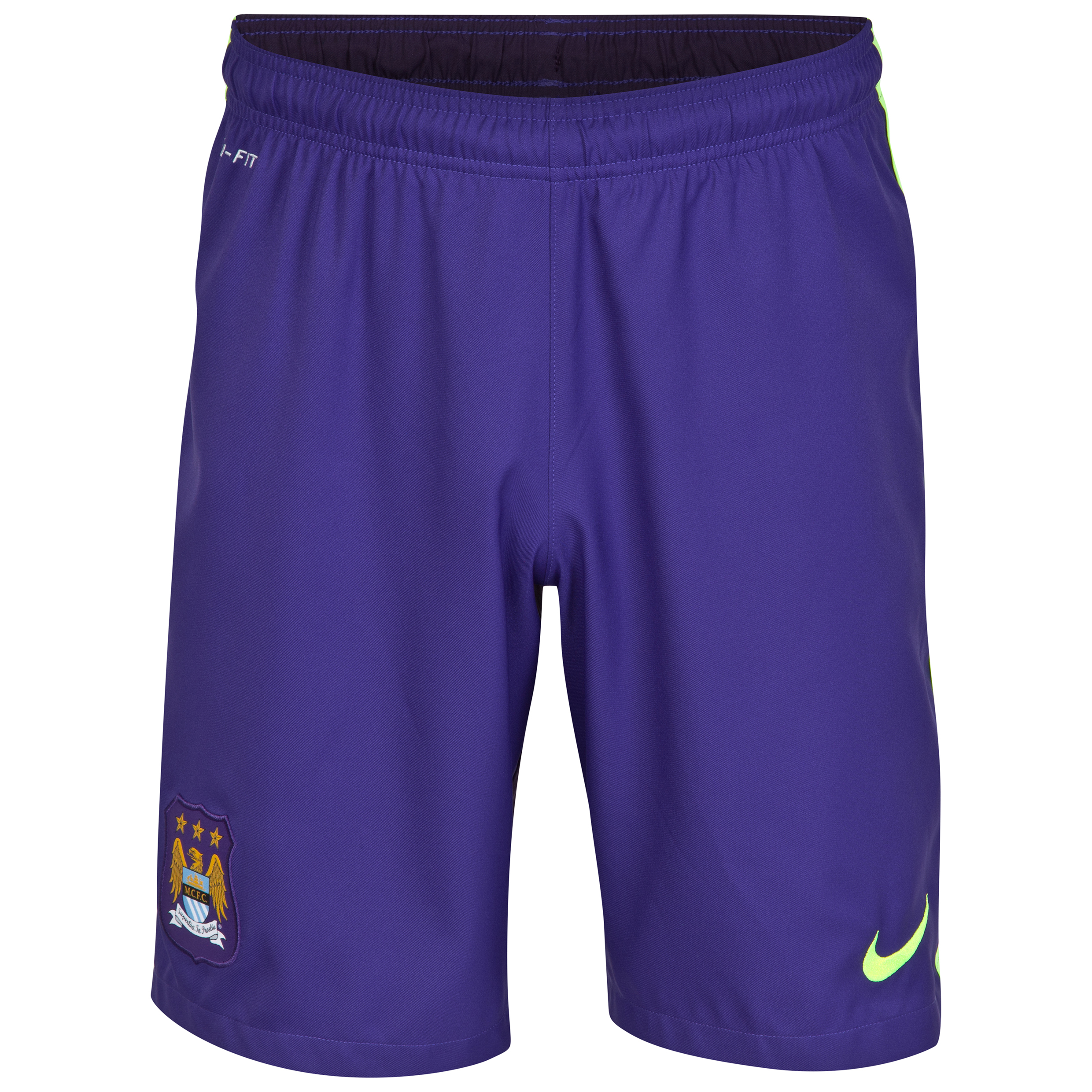 Manchester City Cup Away Shorts 2014/15 - Kids Purple