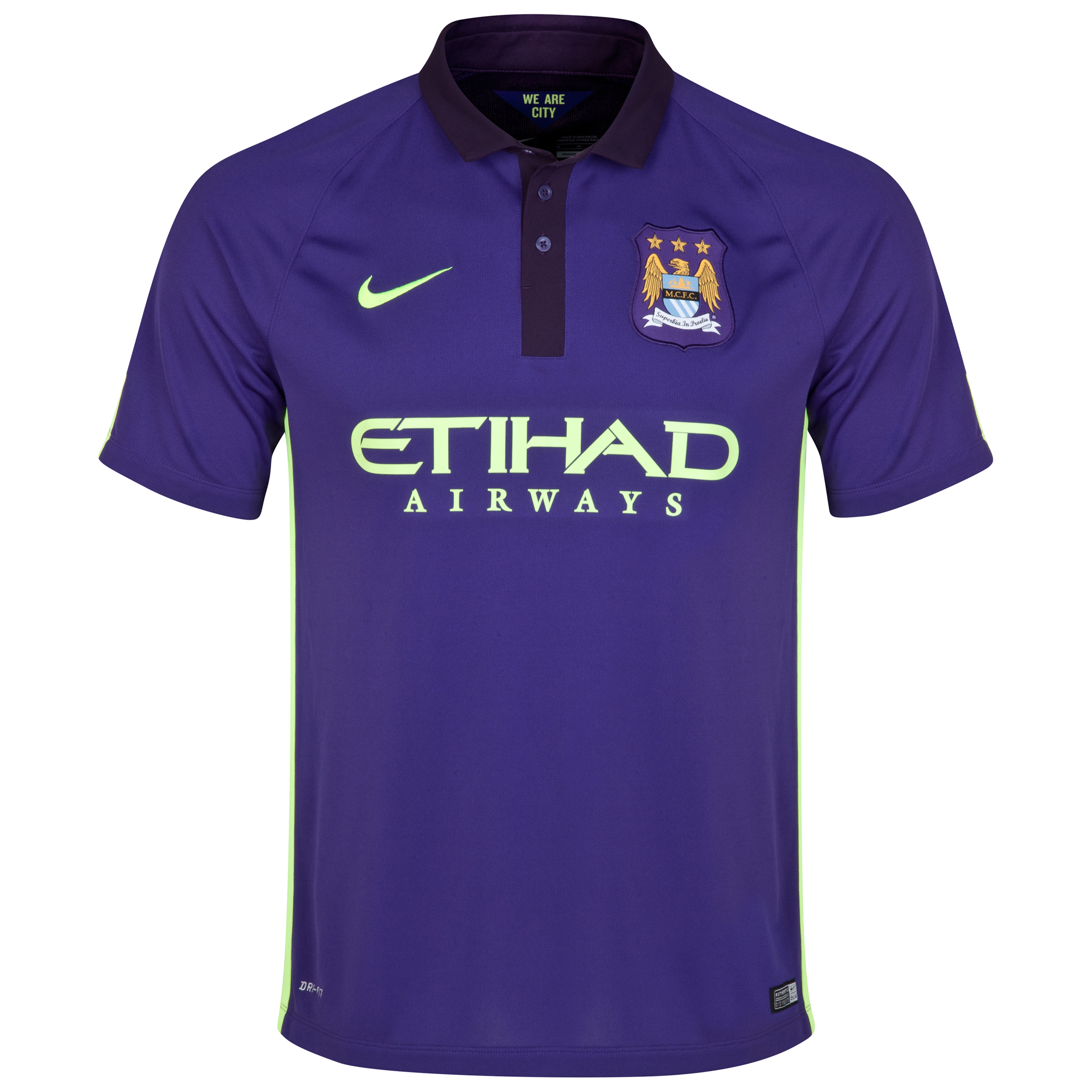 Manchester City Cup Away Shirt 2014/15 - Kids Purple