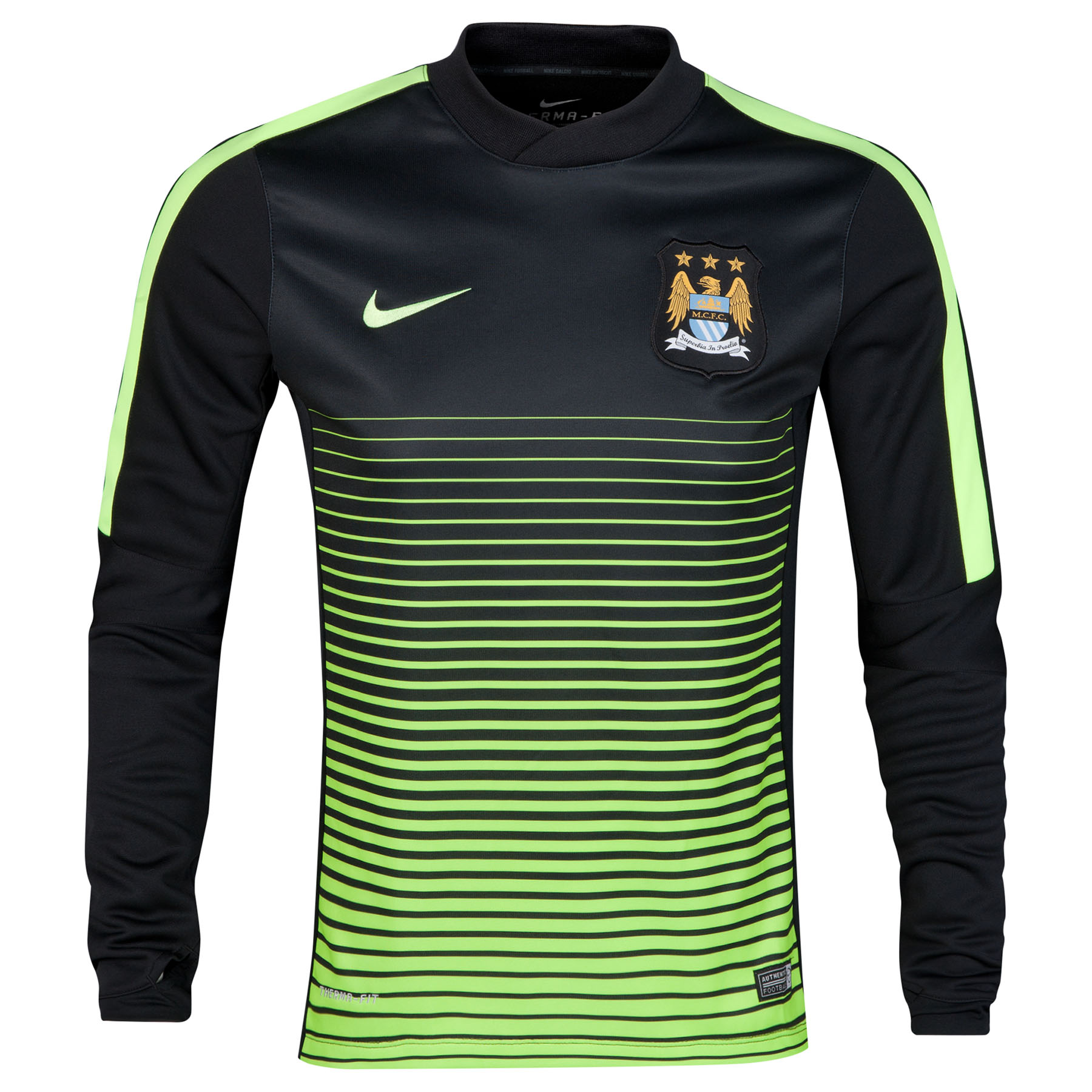 Manchester City Squad Long Sleeve Thermal Pre Match Top Black