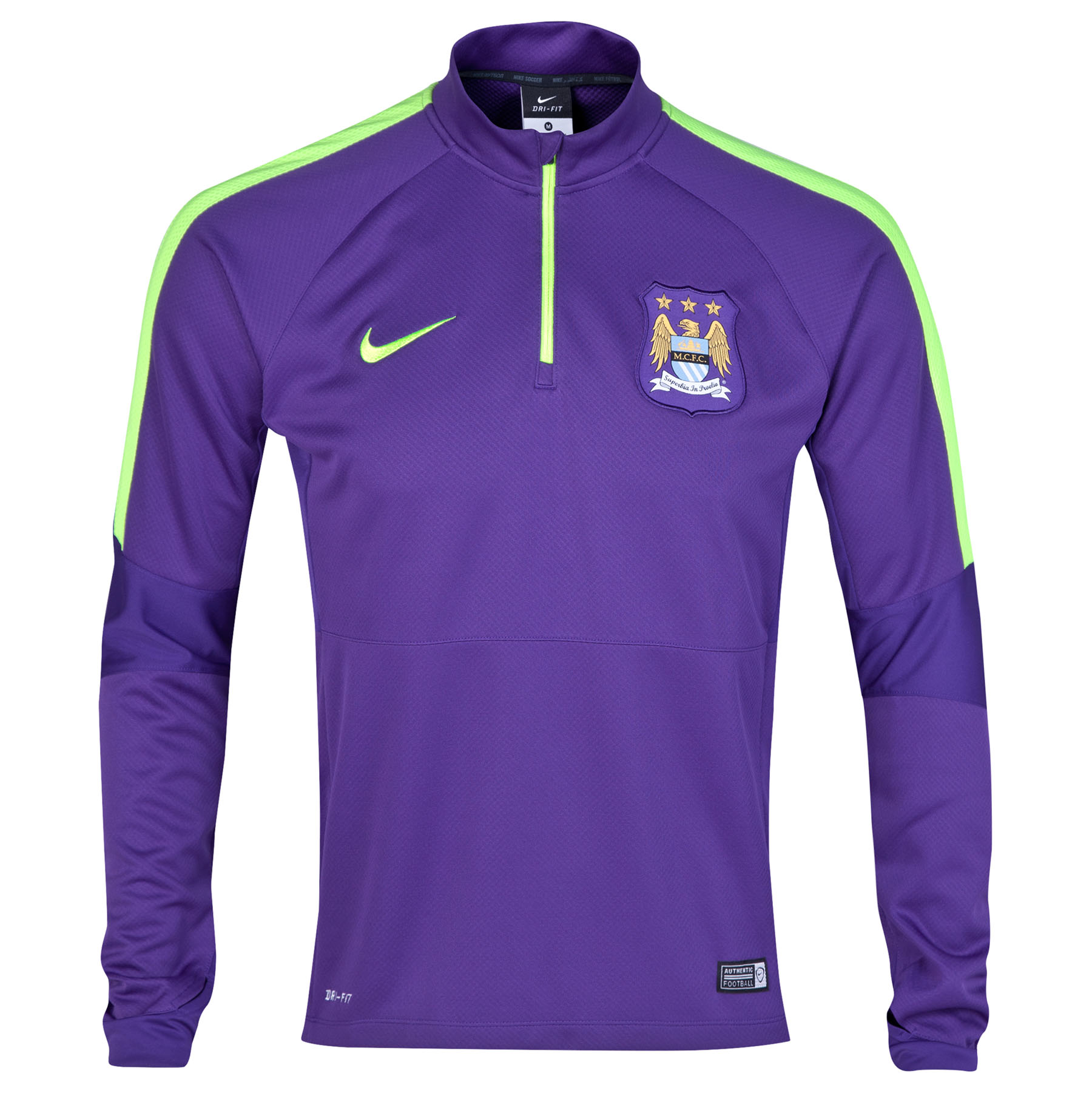 Manchester City Squad Long Sleeve Midlayer Top Purple