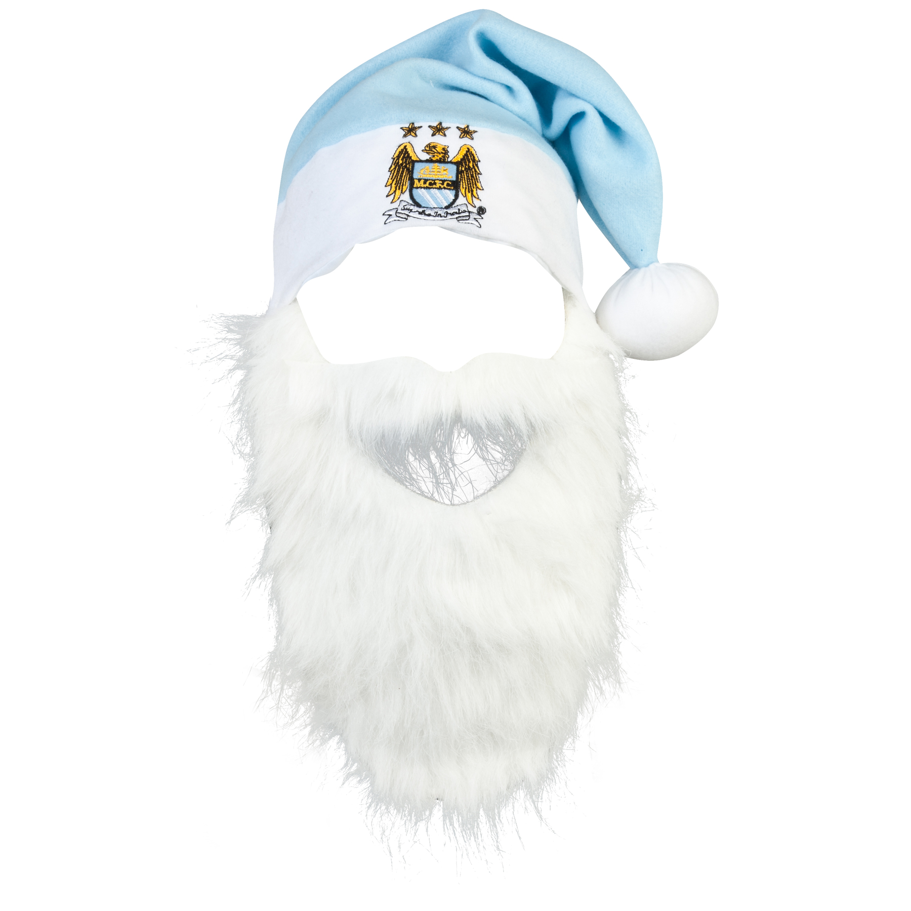 Manchester City Santa Hat With Beard