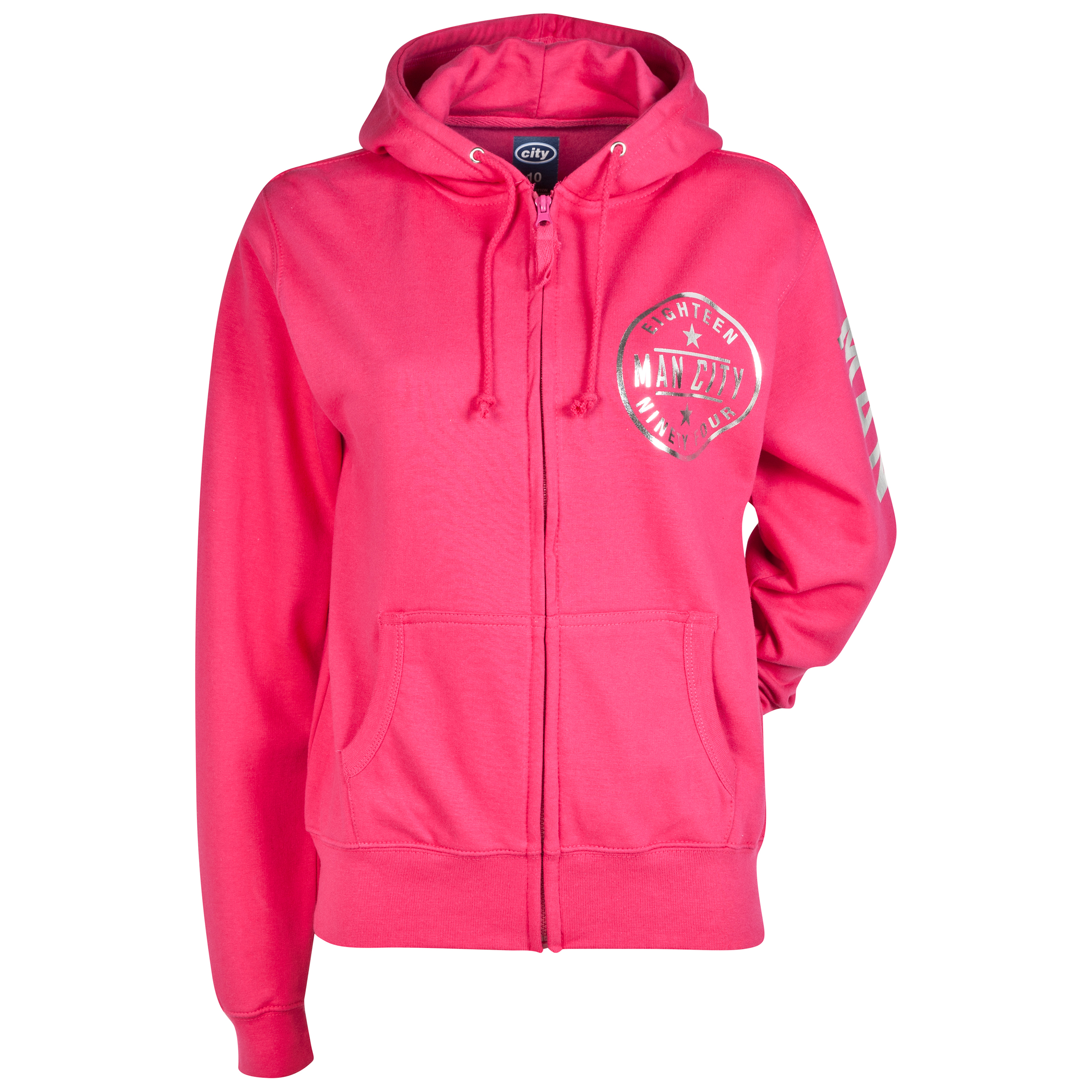Manchester City Foil Hoodie - Pink- Womens
