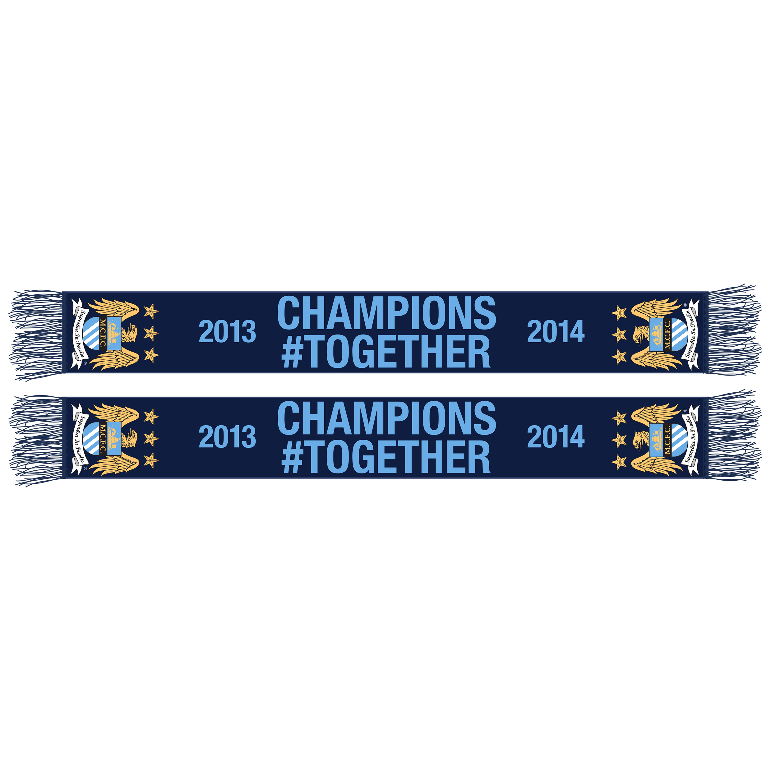 Manchester City Champions #Together Jacquard Scarf