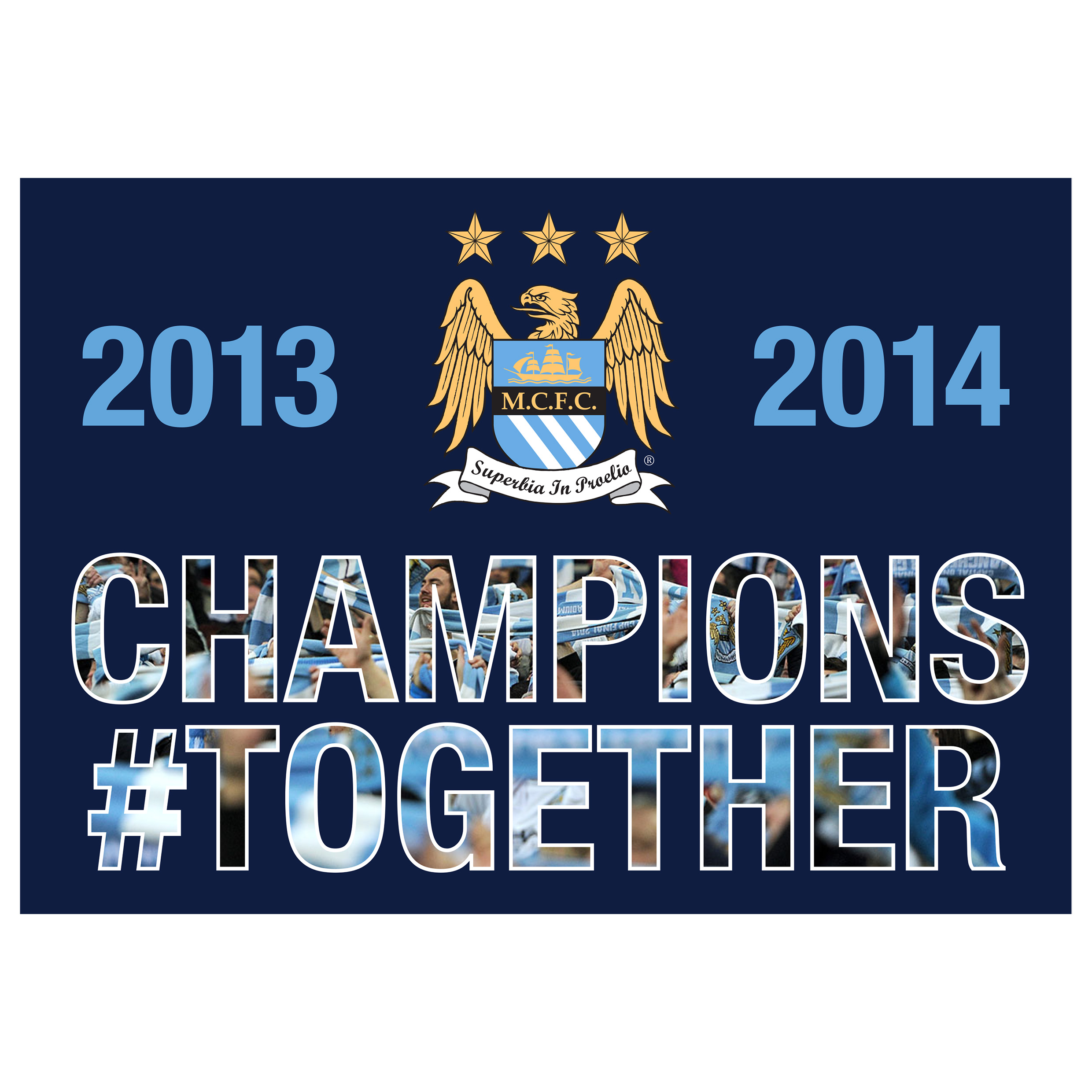 Manchester City Champions #Together Flag