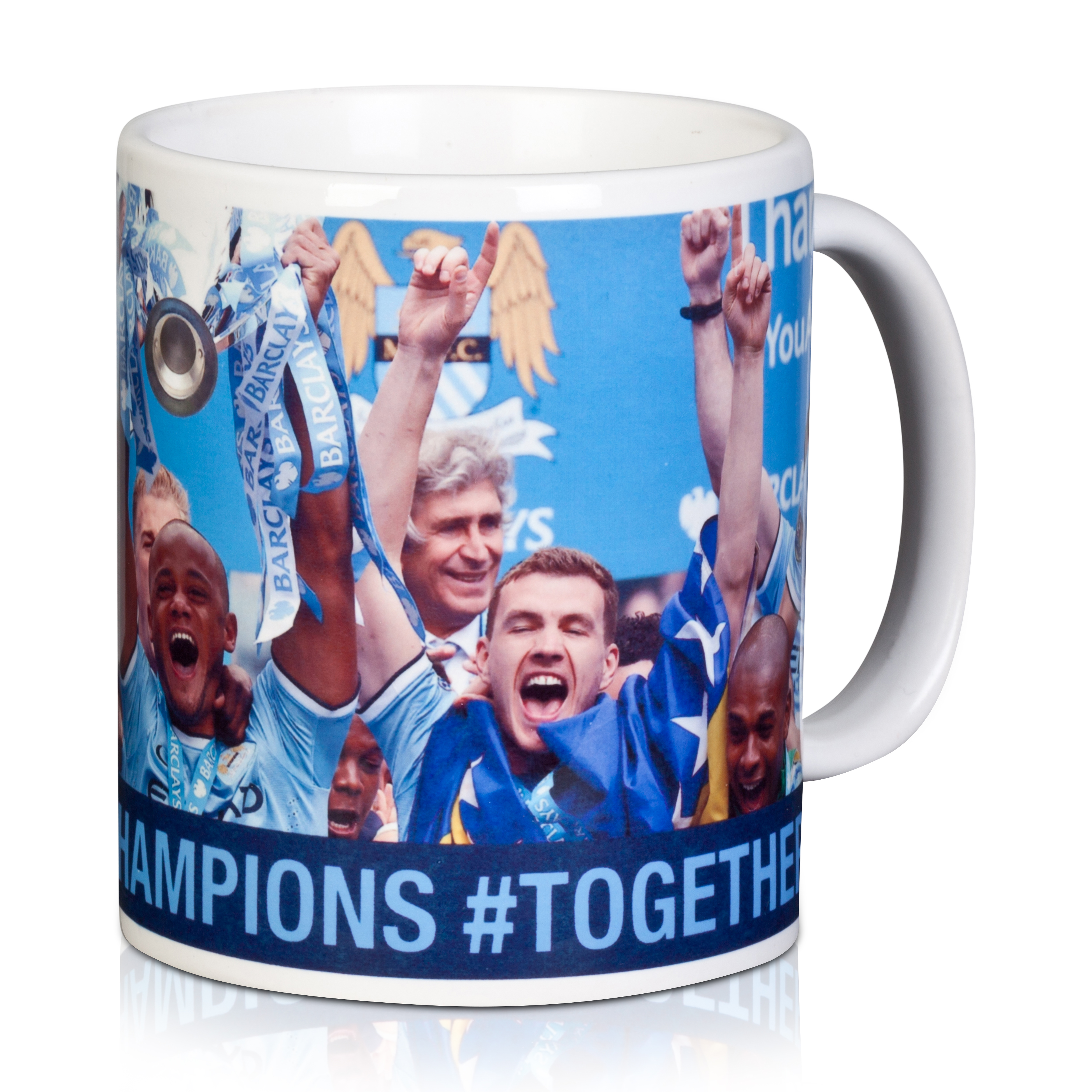 Manchester City Champions #Together Celebrations Mug 11oz