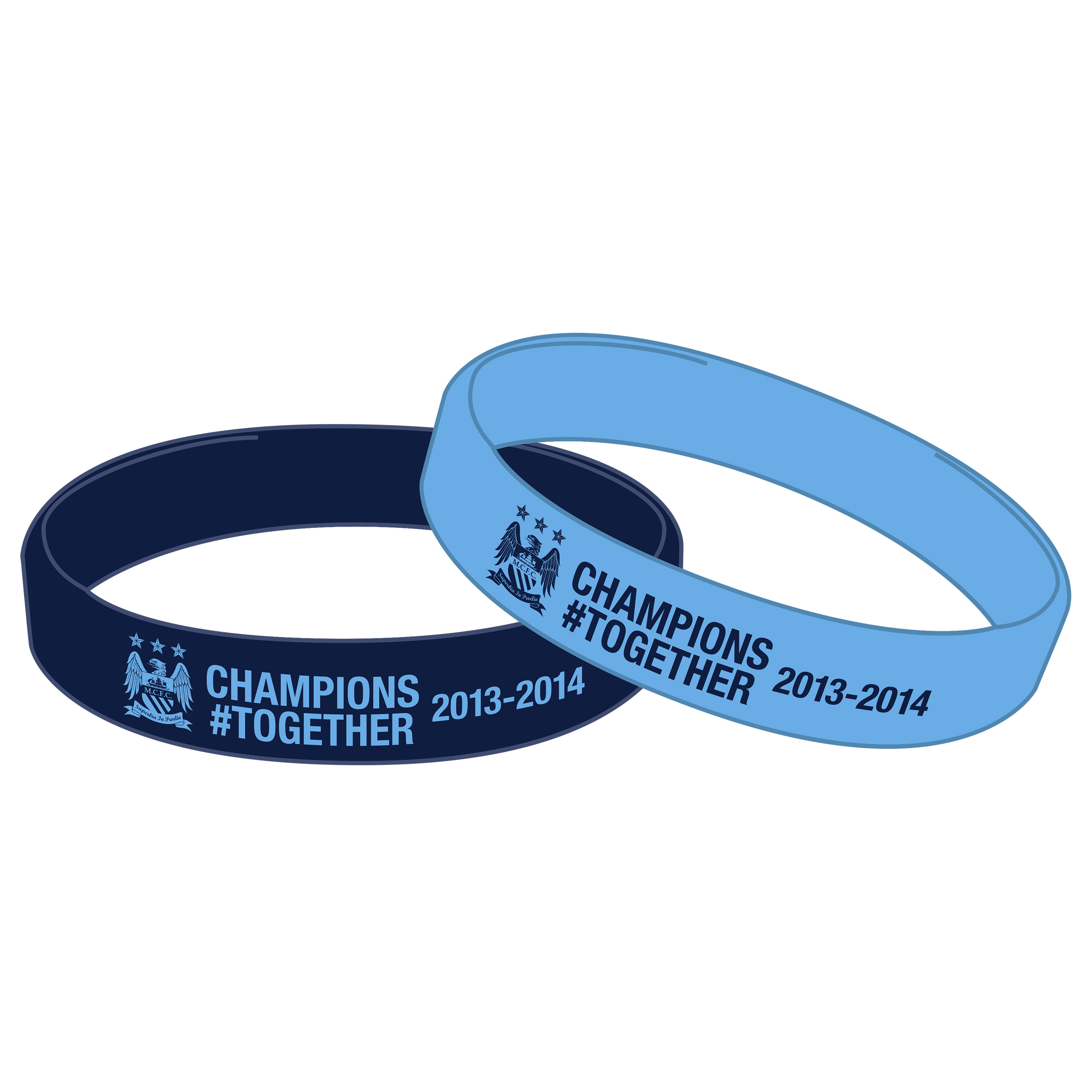 Manchester City Champions #Together Twin Pk Wristband