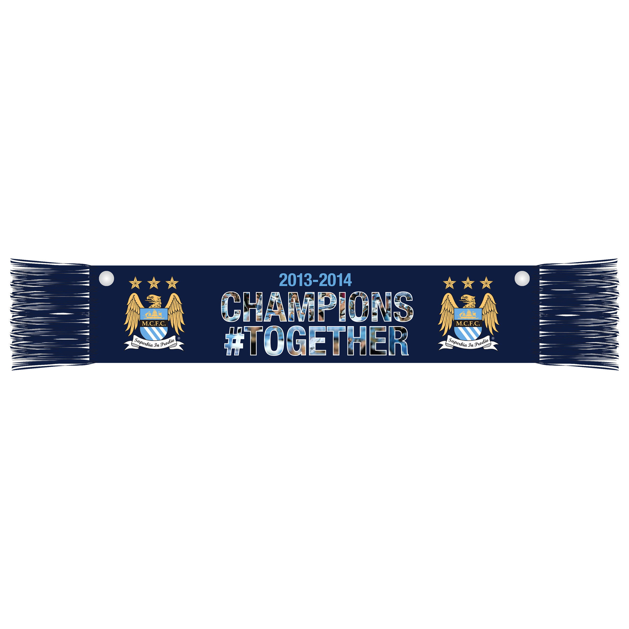 Manchester City Champions #Together Mini Car Scarf