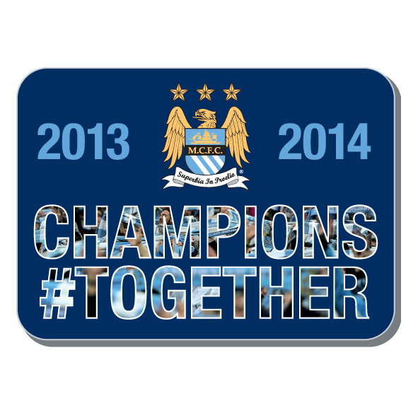Manchester City Champions #Together Pin Badge