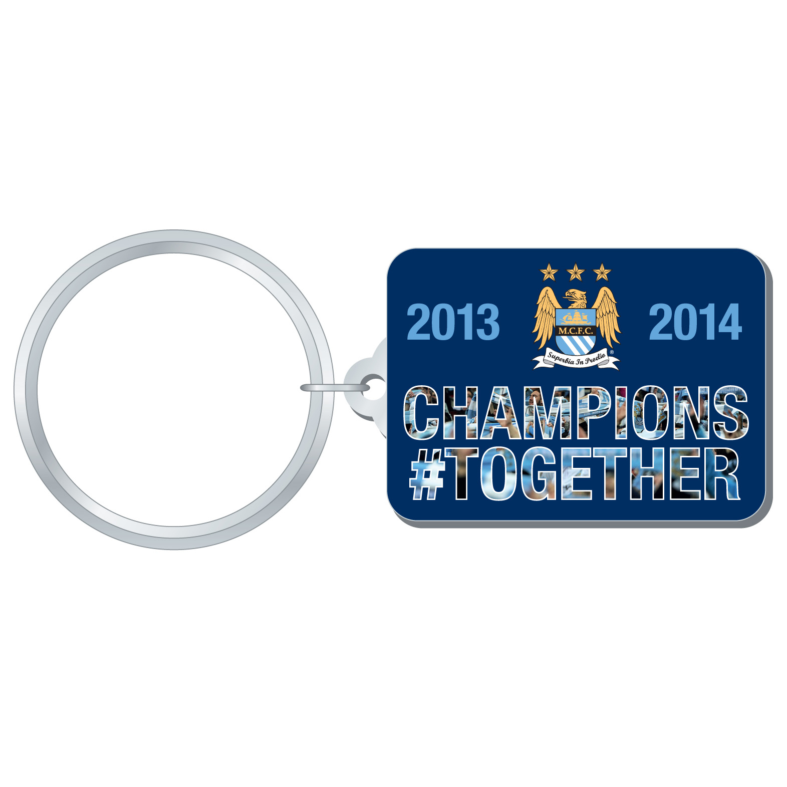 Manchester City Champions #Together Keyring