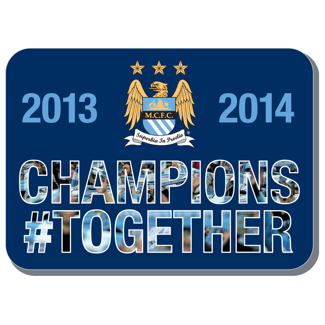 Manchester City Champions #Together Fridge Magnet