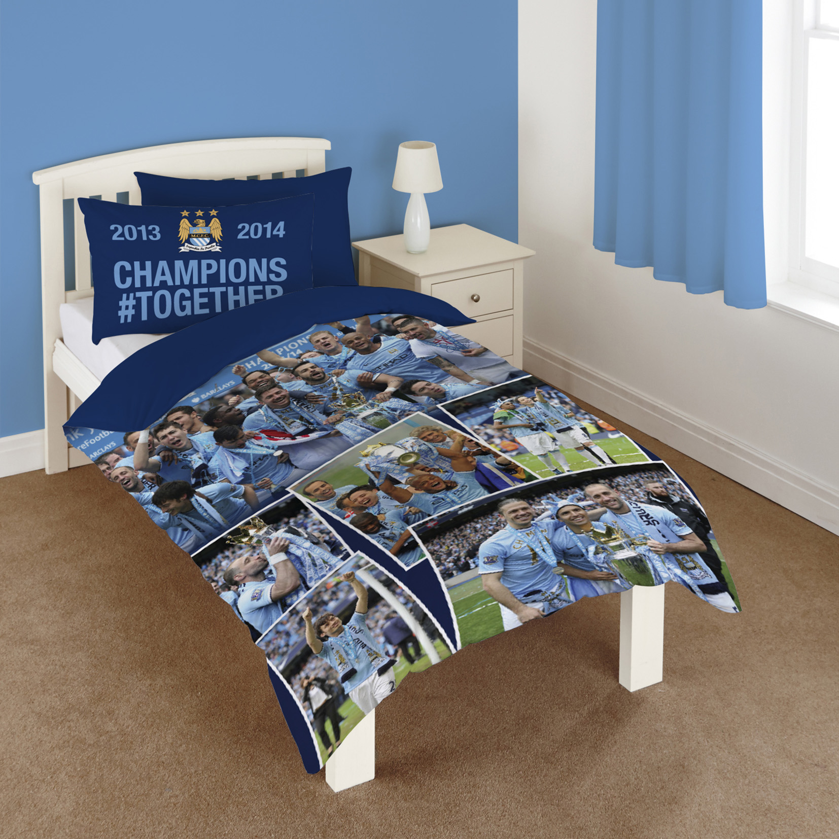 Manchester City Champions #Together Duvet