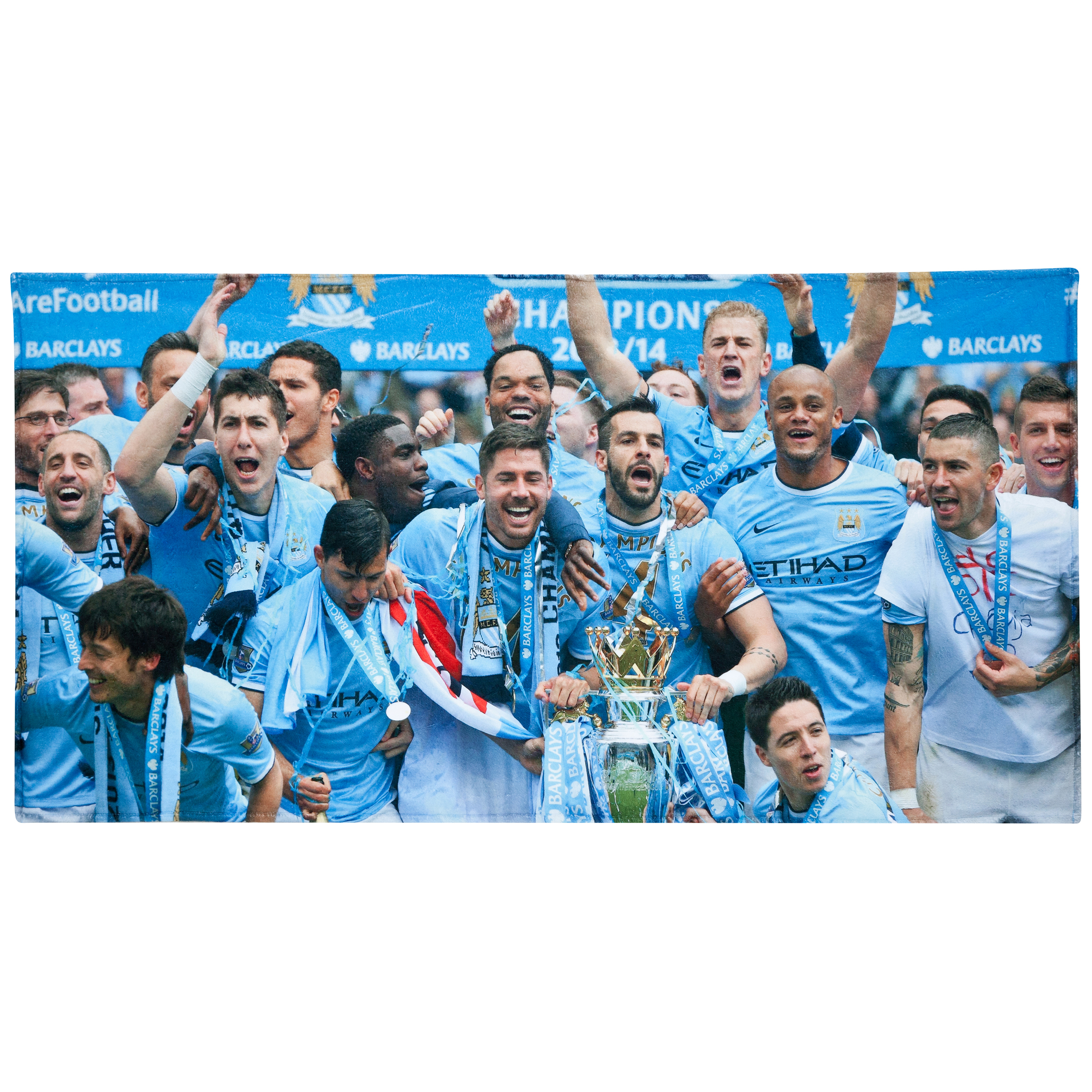 Manchester City Champions #Together Beach Towel