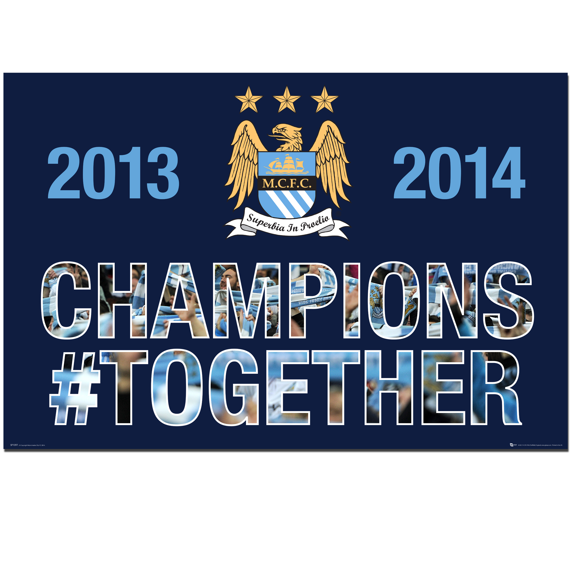 Manchester City Champions #Together Poster