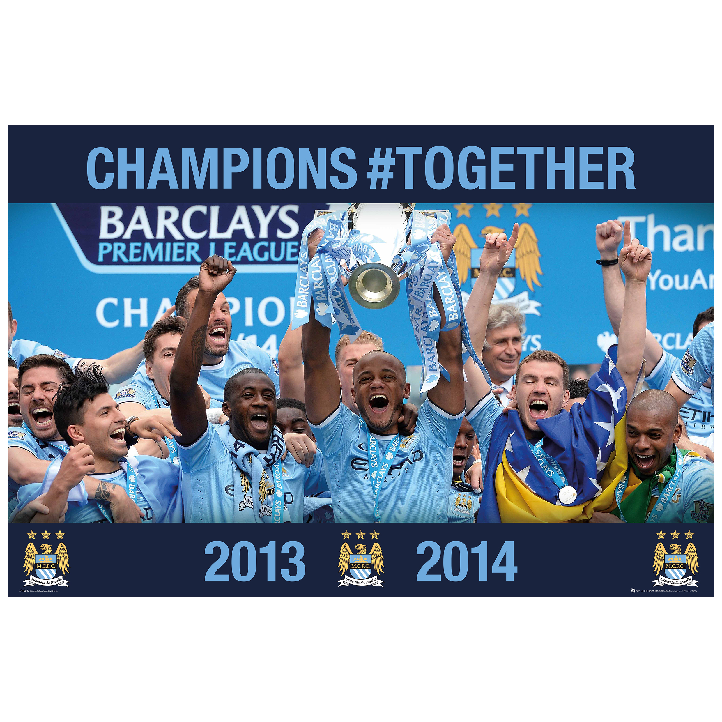 Manchester City Champions #Together Photographic Poster