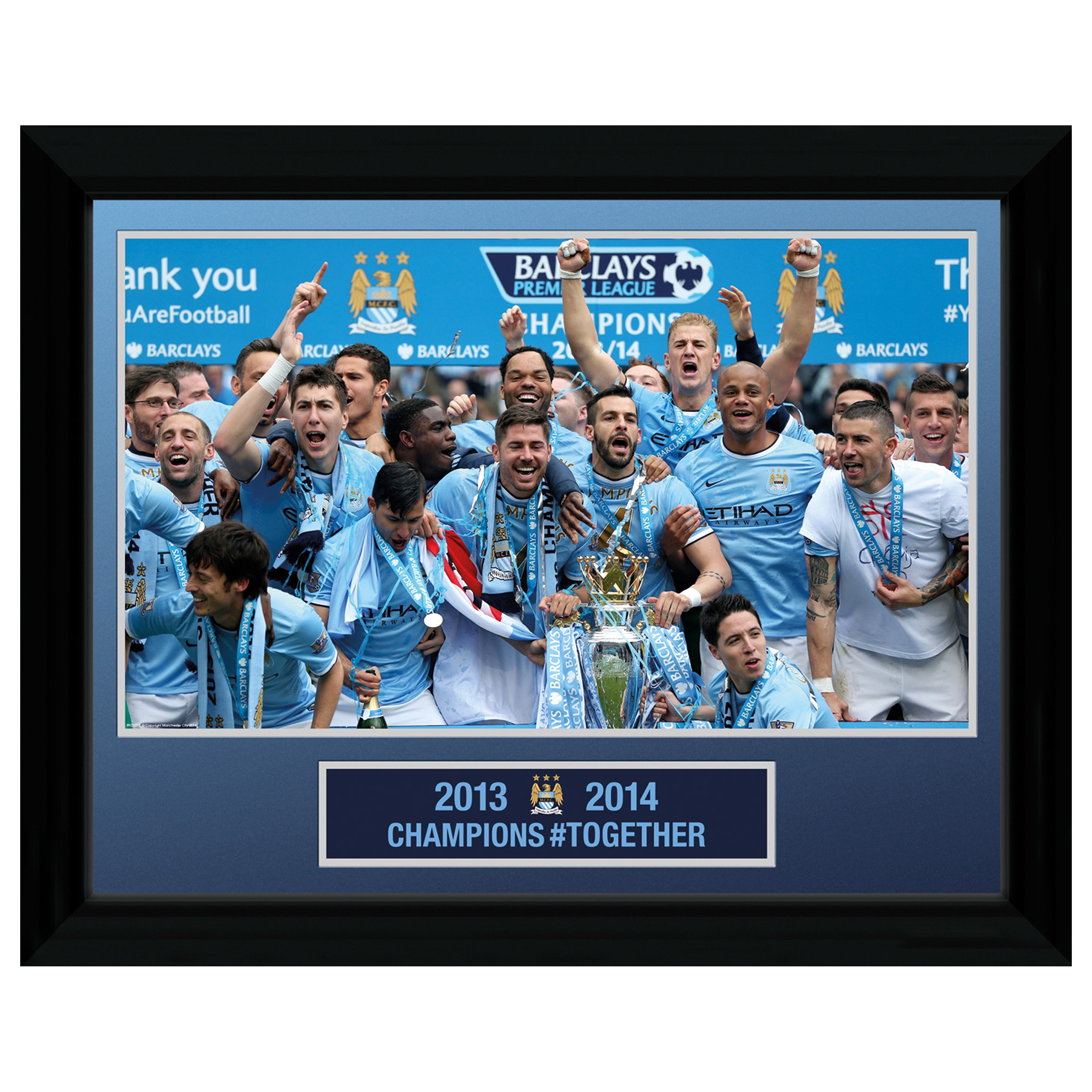 "Manchester City Champions #Together Framed Image 16"" X 12"""