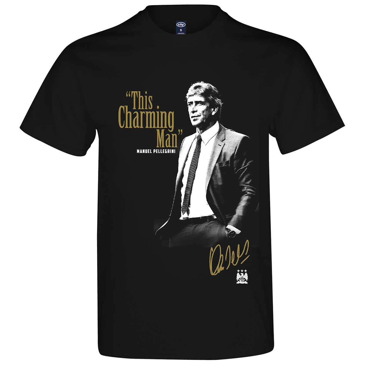 Manchester City 2for 20 Charming T-Shirt - Black