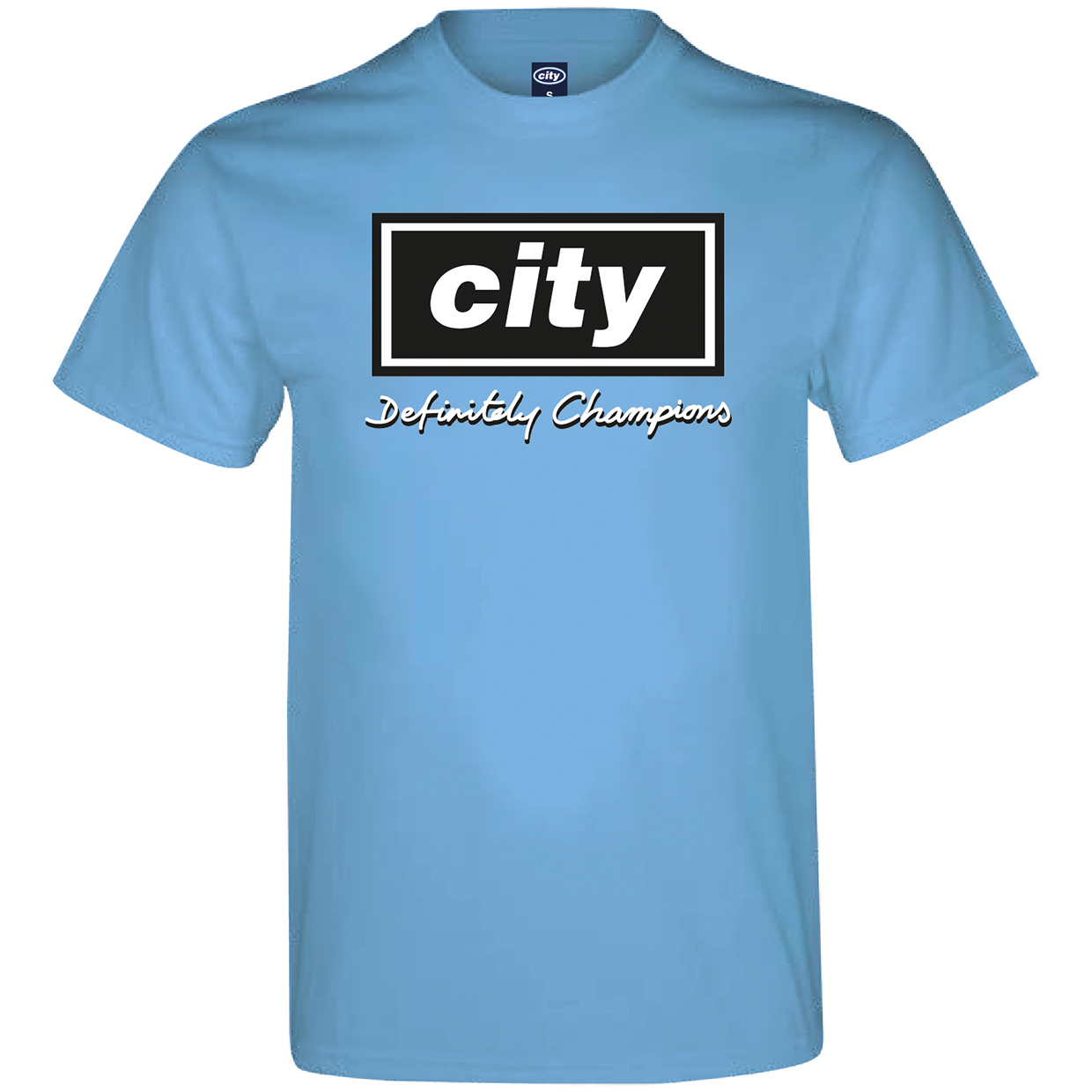 Manchester City 2for 20 Definitely T-Shirt - Sky
