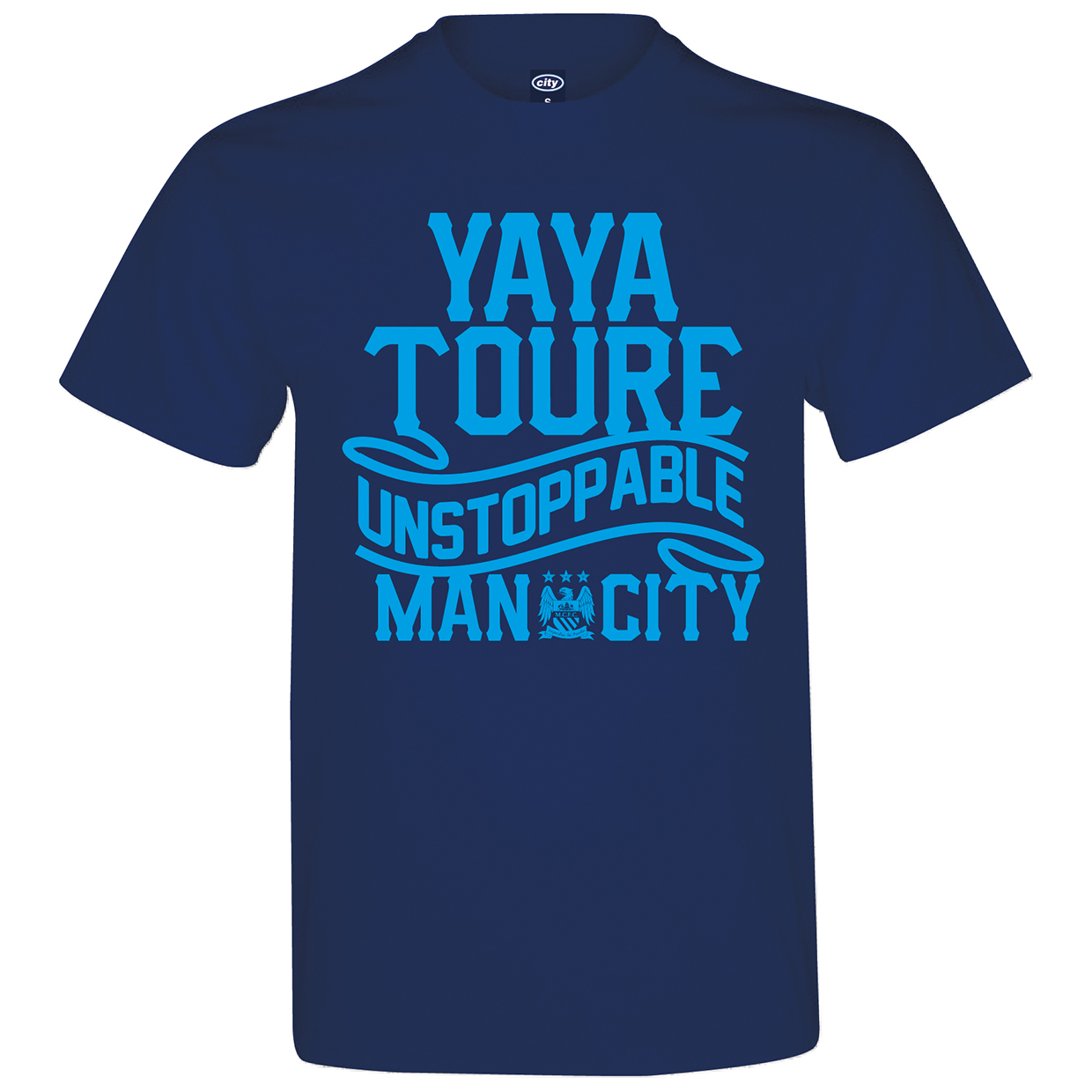 Manchester City 2for 20 Yaya T-Shirt - Navy