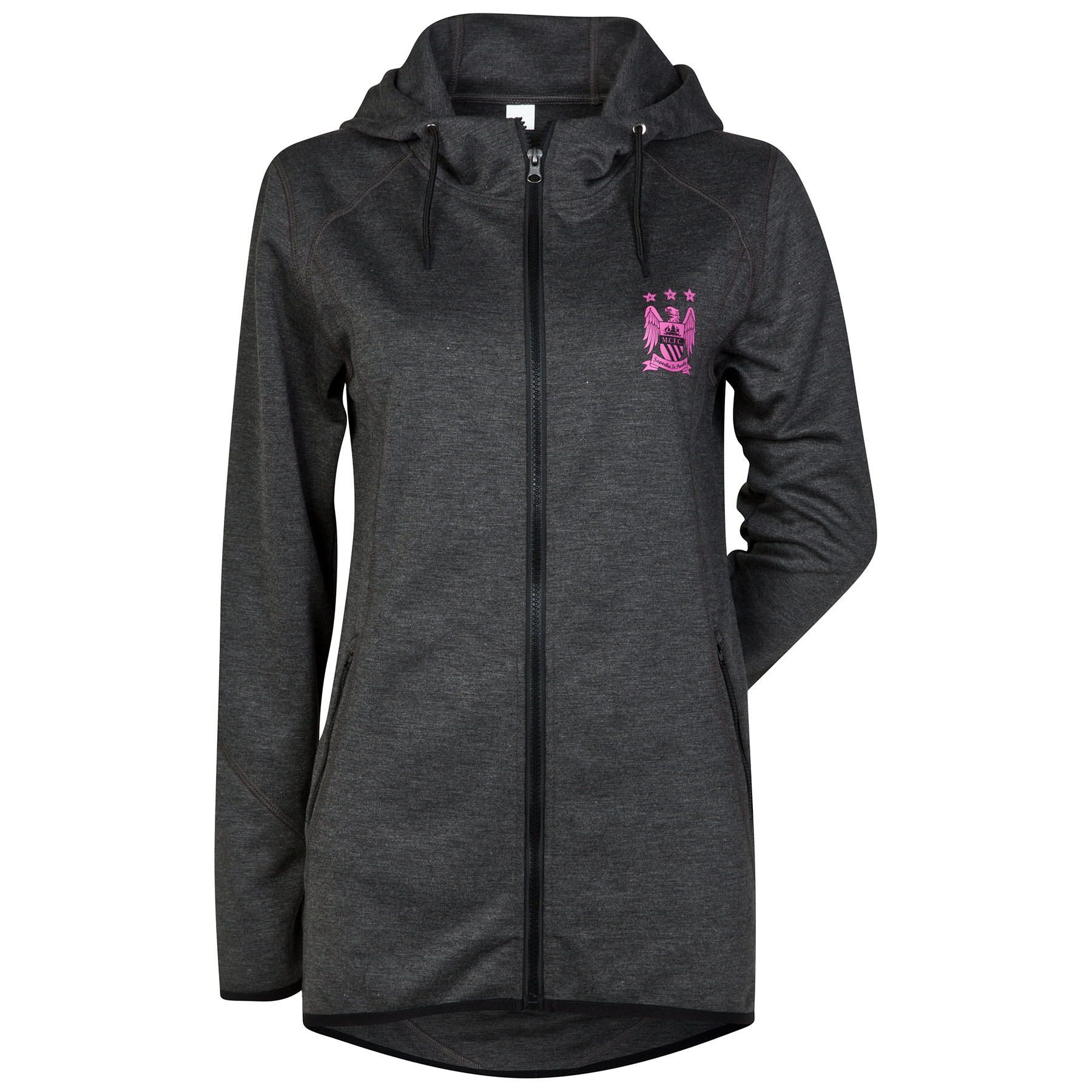 Manchester City Performance Hoodie - Charcoal Marl Womens