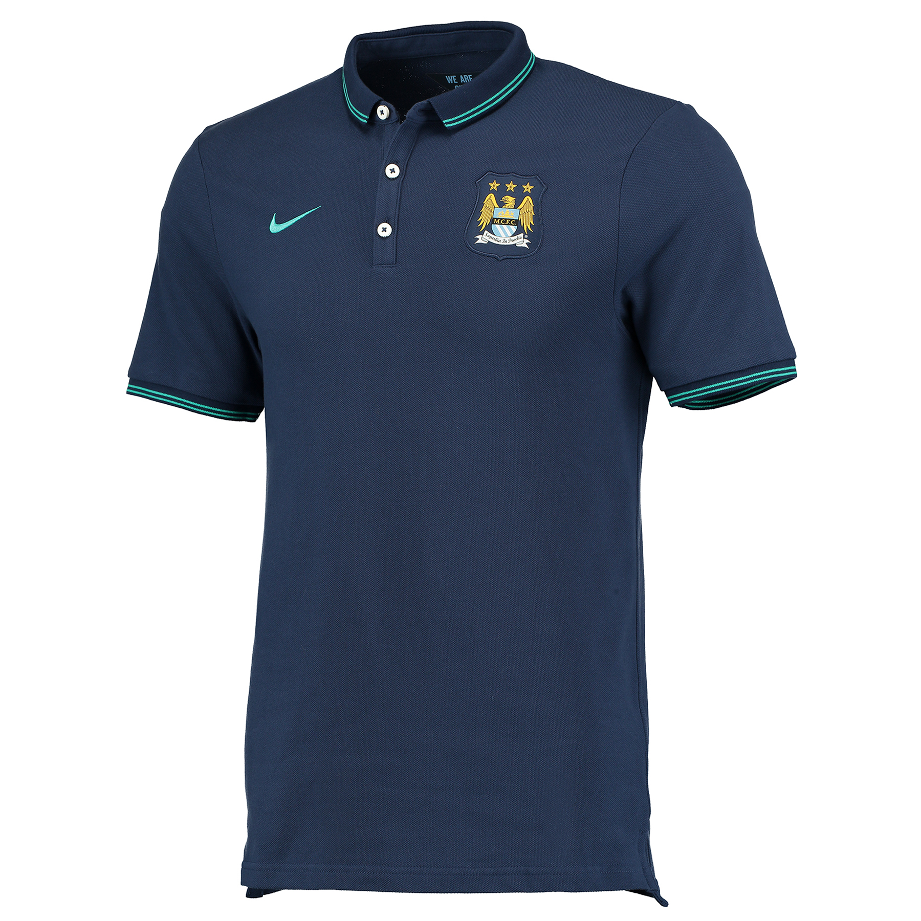 Manchester City League Authentic Polo Navy