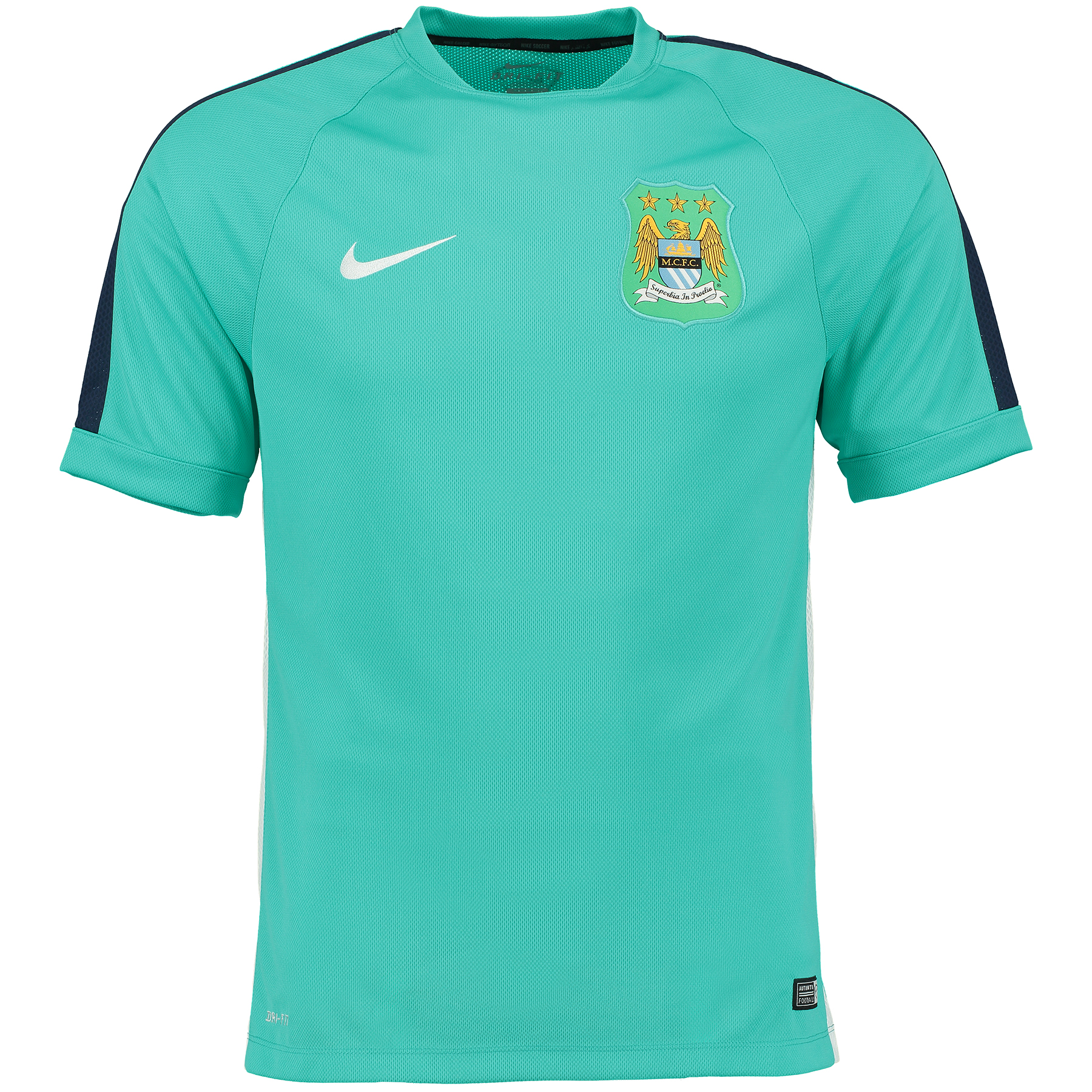 Manchester City Squad Short Sleeve Training Top Green