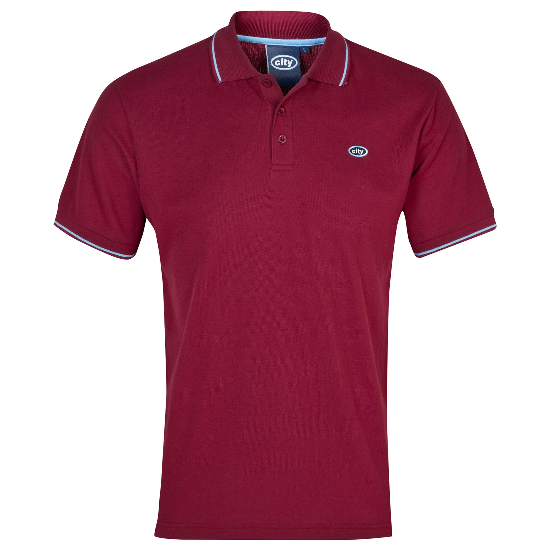 Manchester City Polo 2for?30 - Maroon - Mens