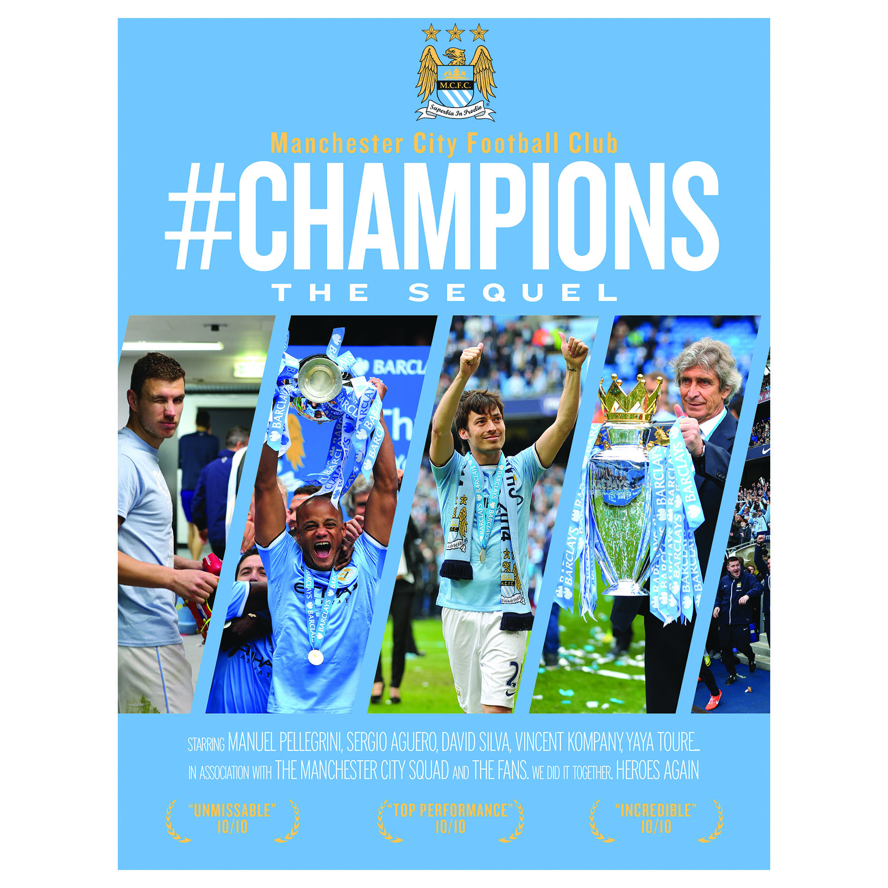 Manchester City Champions Book The Sequel