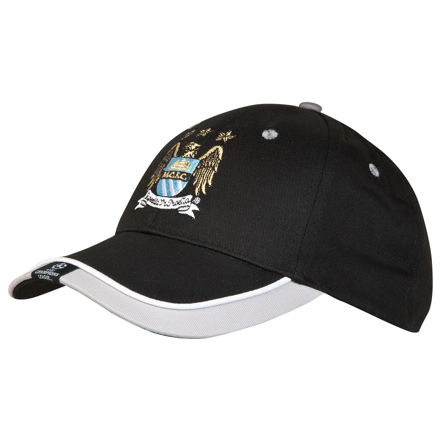 Manchester City UCL Baseball Cap - Black - Adult