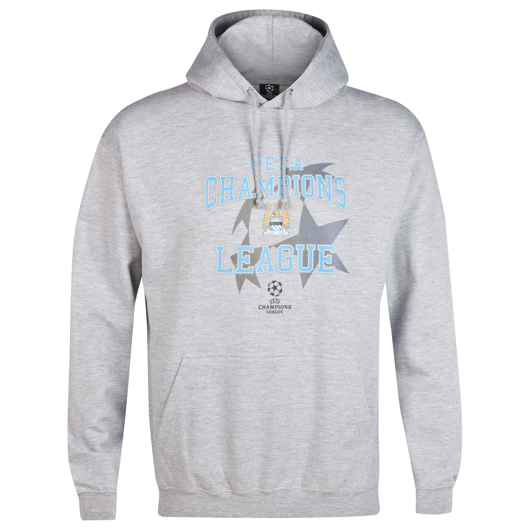 Manchester City UCL Hoodie - Grey - Mens